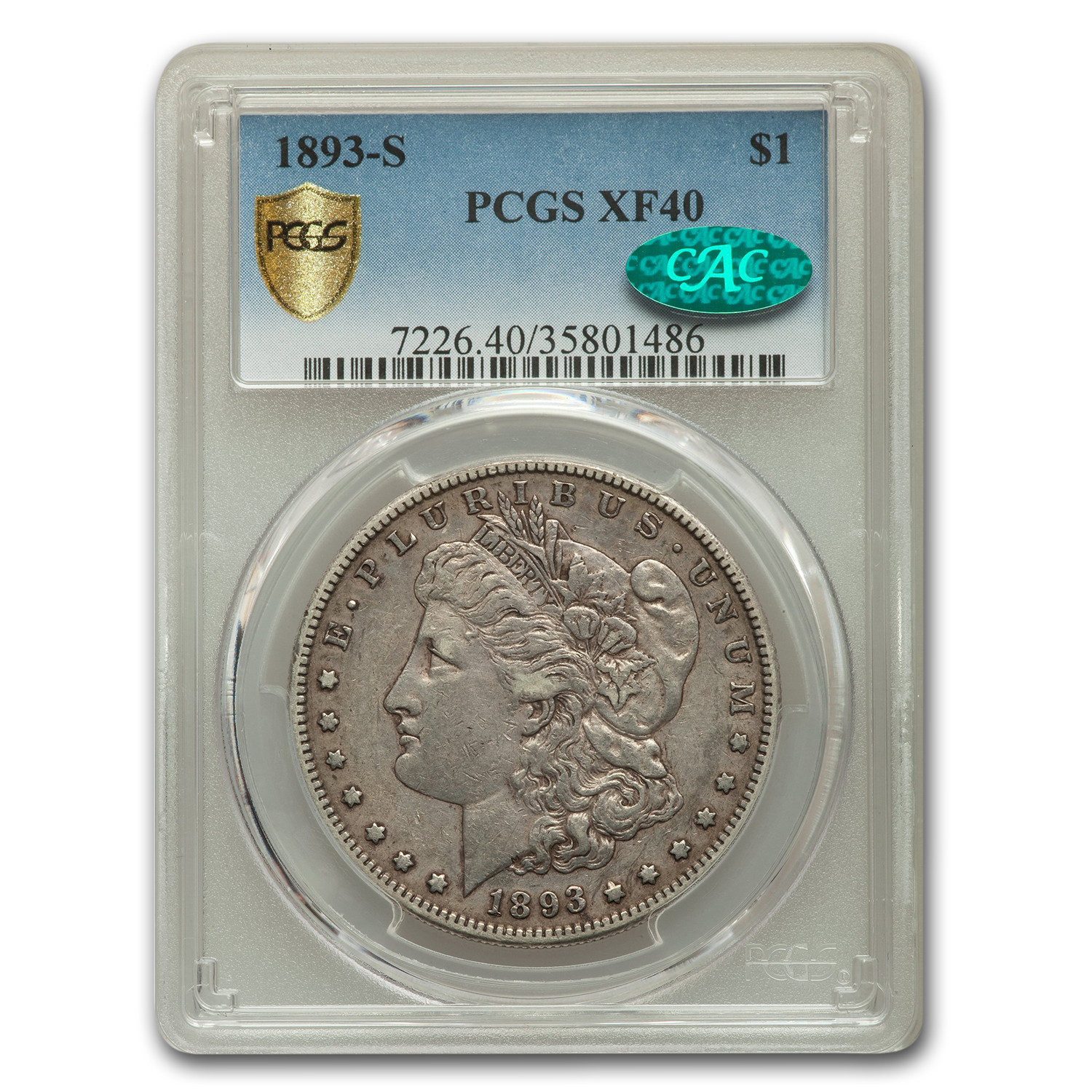 1893-S Morgan Dollar XF-40 PCGS (CAC)