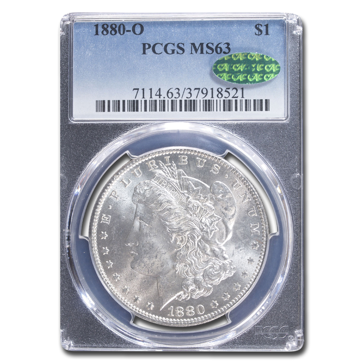 1880-O Morgan Dollar - MS-63 PCGS - CAC
