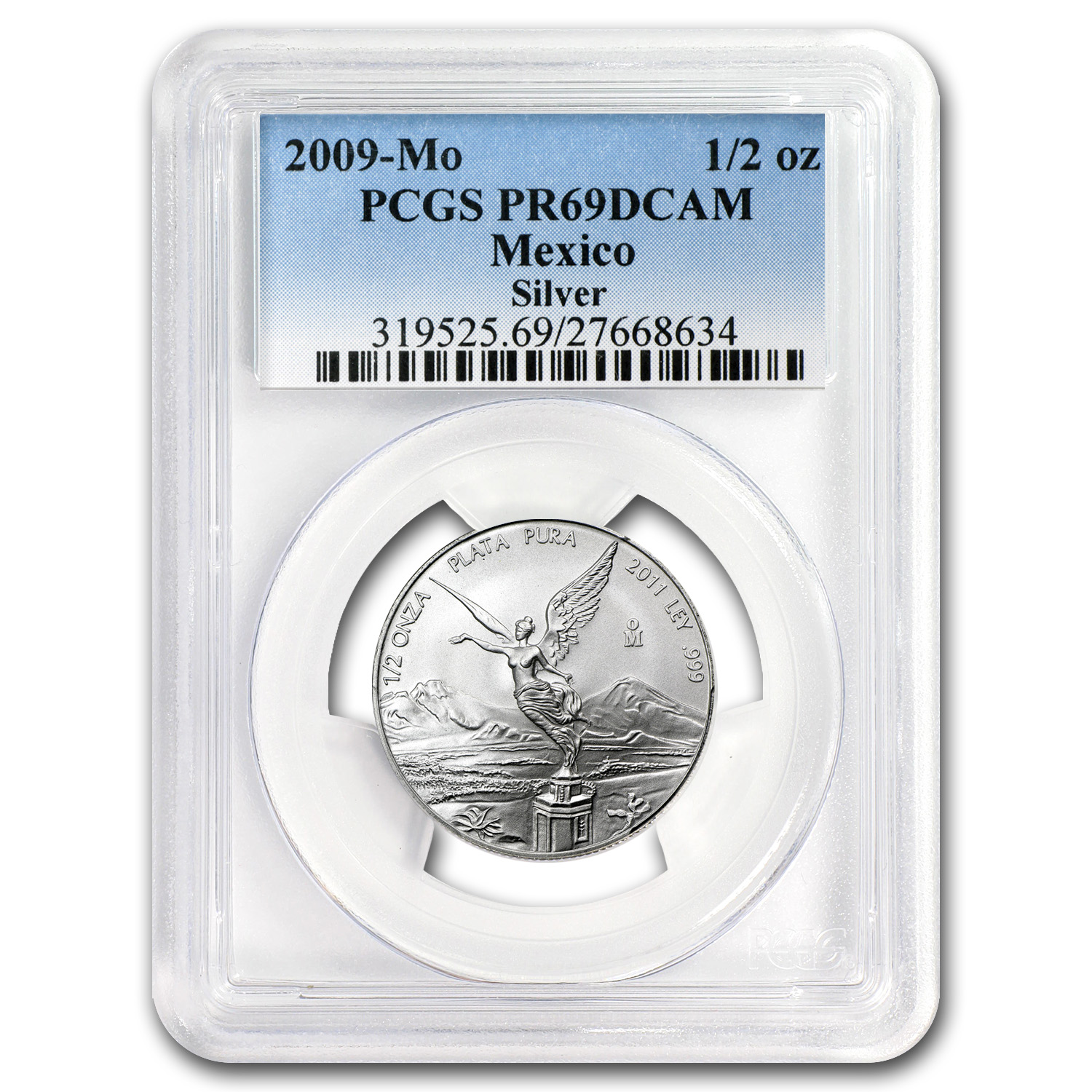 2009 Mexico 1/2 oz Proof Silver Libertad PR-69 PCGS