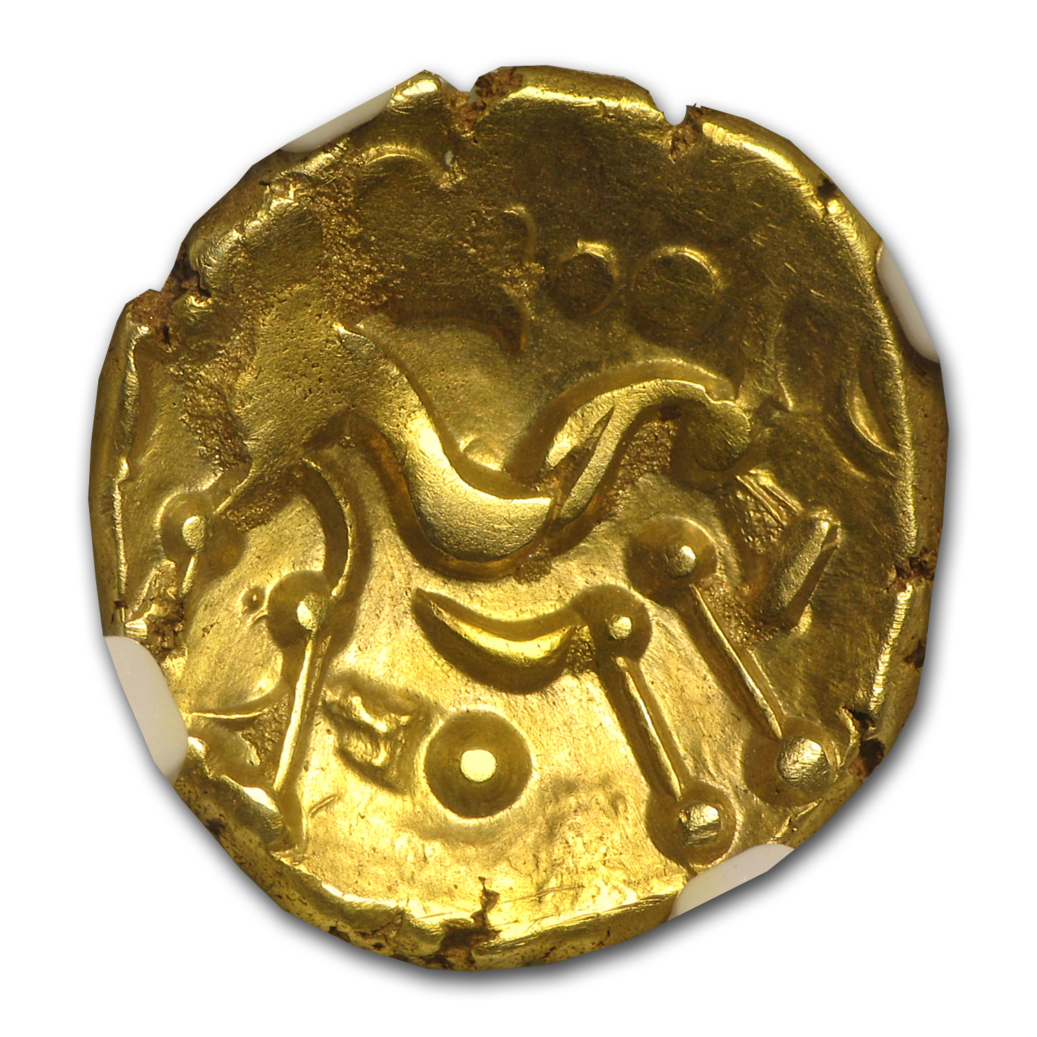 Gaul Ambiani AV Gold Stater Ch XF NGC (1st Century BC)