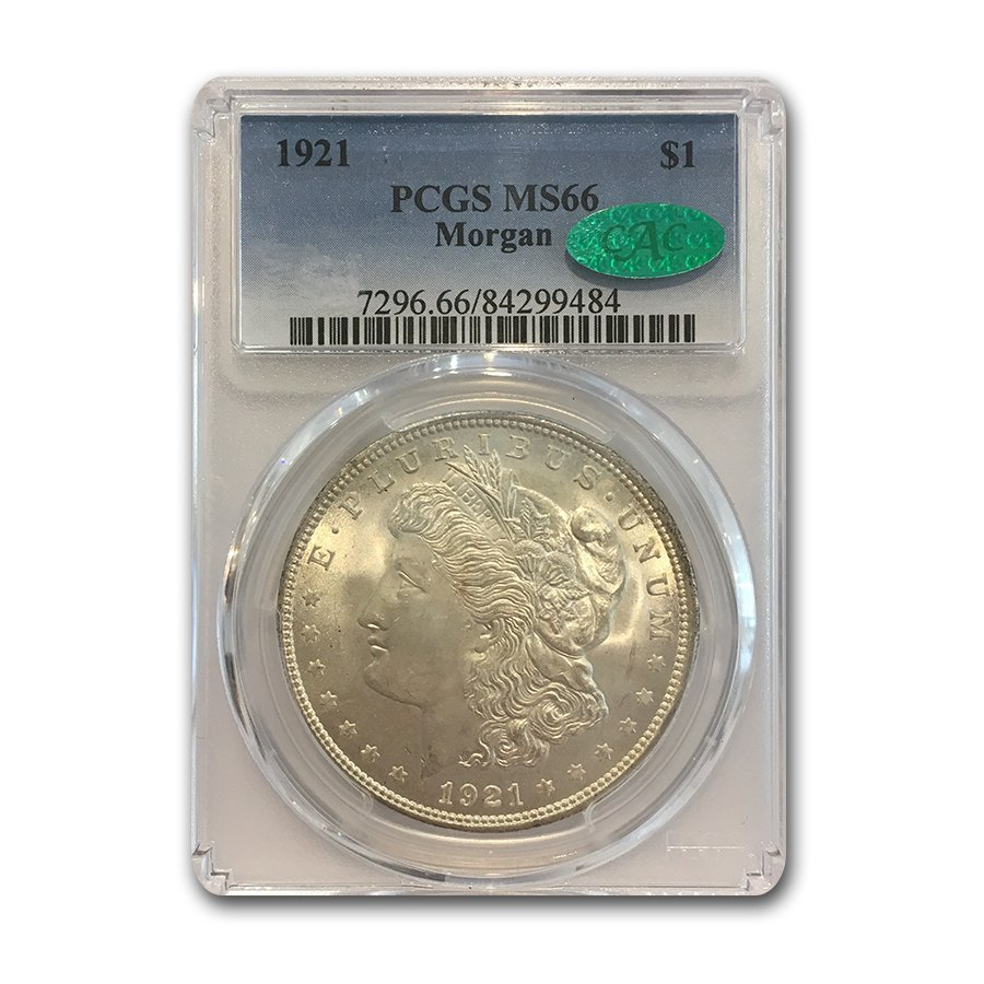 1921 Morgan Dollar MS-66 PCGS (CAC)