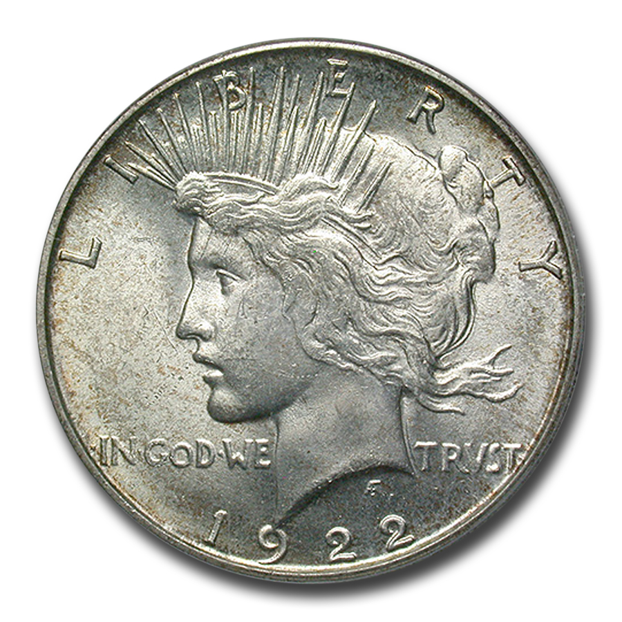 1922-S Peace Dollar MS-64 PCGS (CAC)