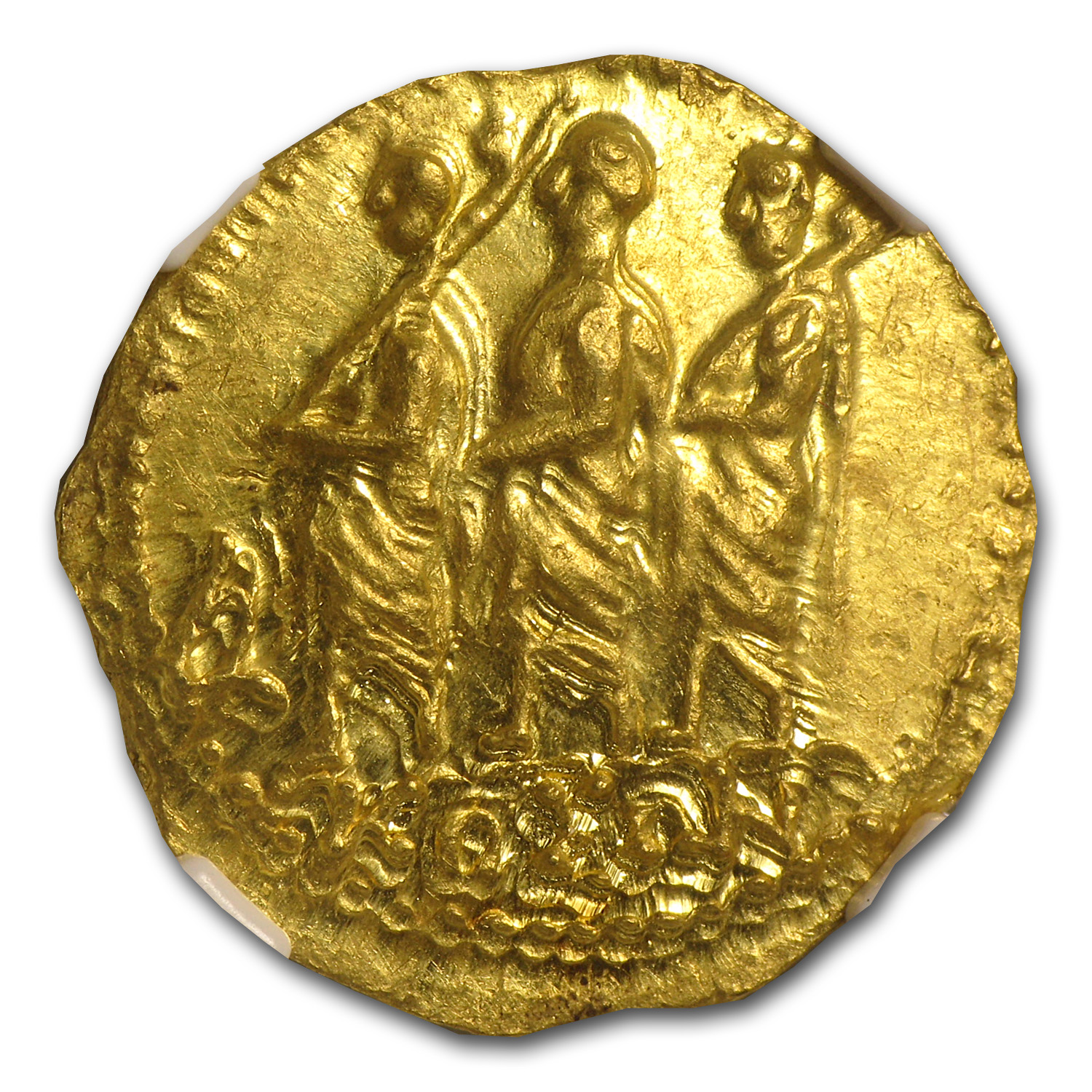 Thracian/Scythian Gold Stater w/Monogram MS NGC (1st Century BC)