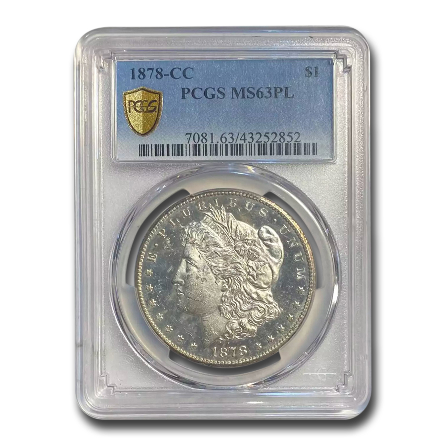 1878-CC Morgan Dollar - MS-63 PL Proof Like PCGS