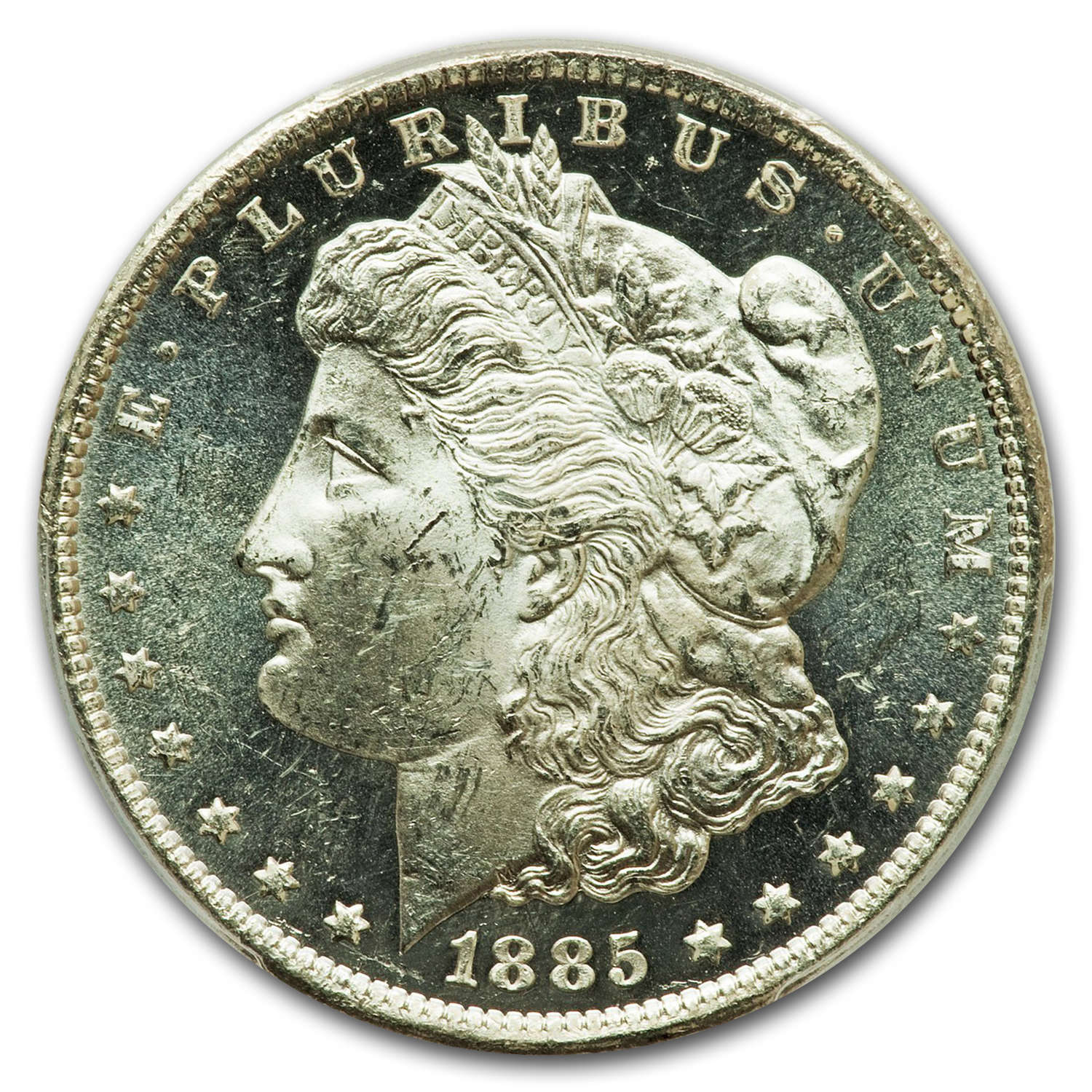 1885-CC Morgan Dollar MS-63 DMPL PCGS