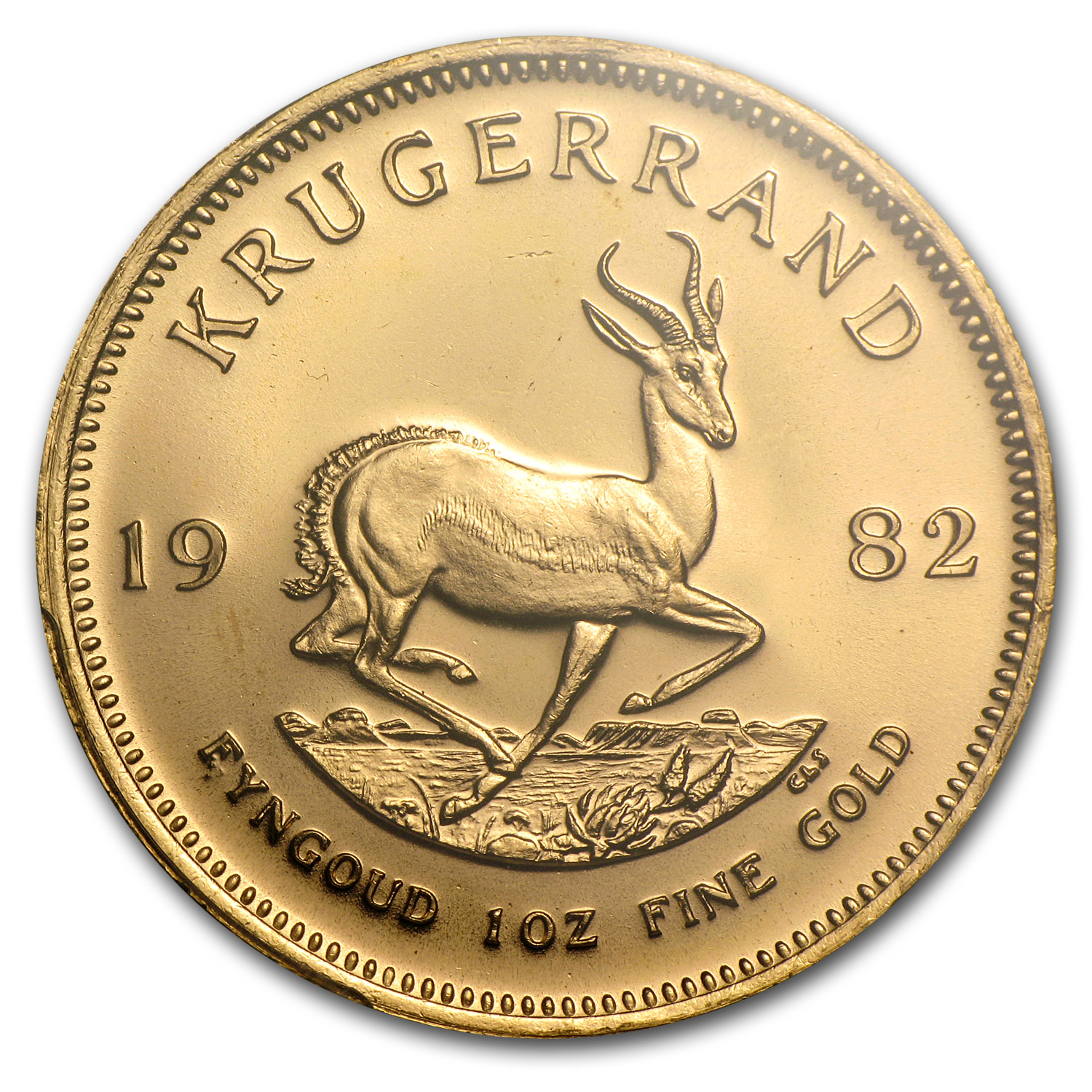 1982 1 oz Gold South African Krugerrand PCGS MS-66 (WTC)