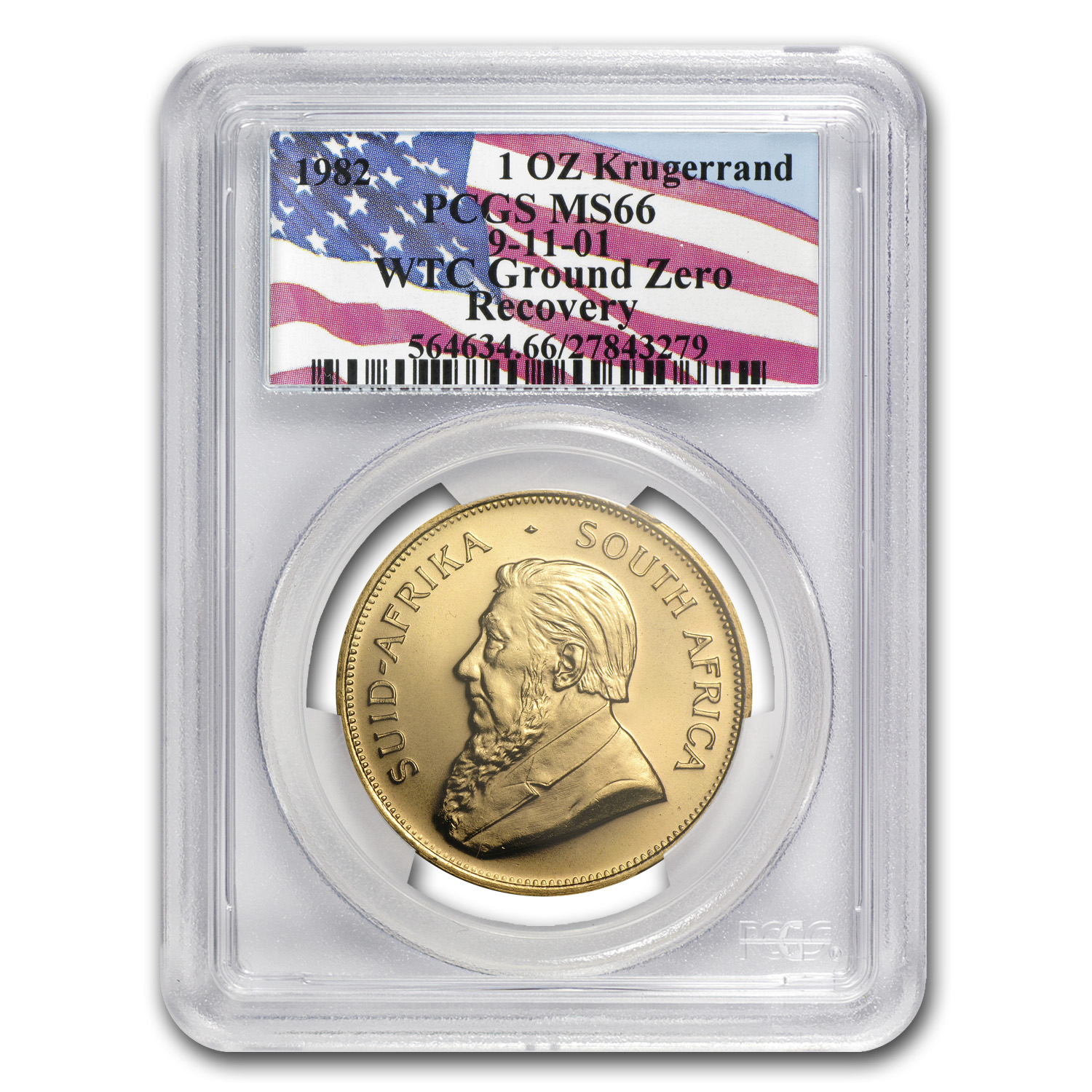 1982 South Africa 1 oz Gold Krugerrand MS-66 PCGS (WTC)