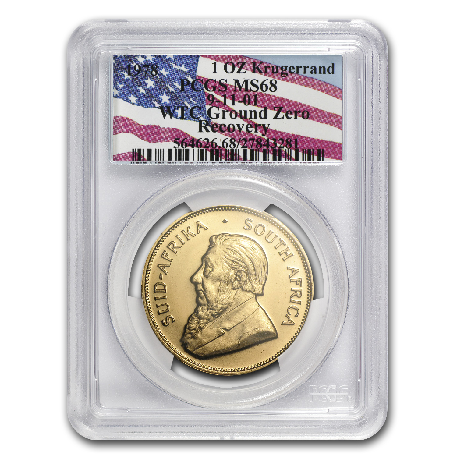 1978 South Africa 1 oz Gold Krugerrand MS-68 PCGS (WTC)