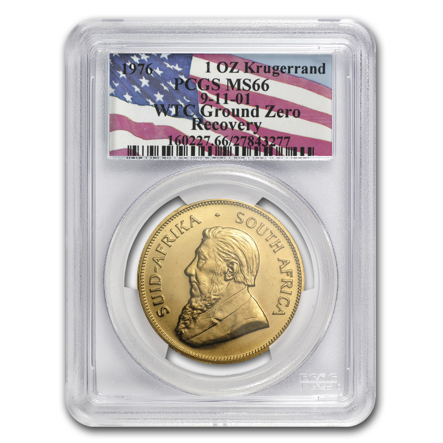 1976 South Africa 1 oz Gold Krugerrand MS-66 PCGS (WTC)
