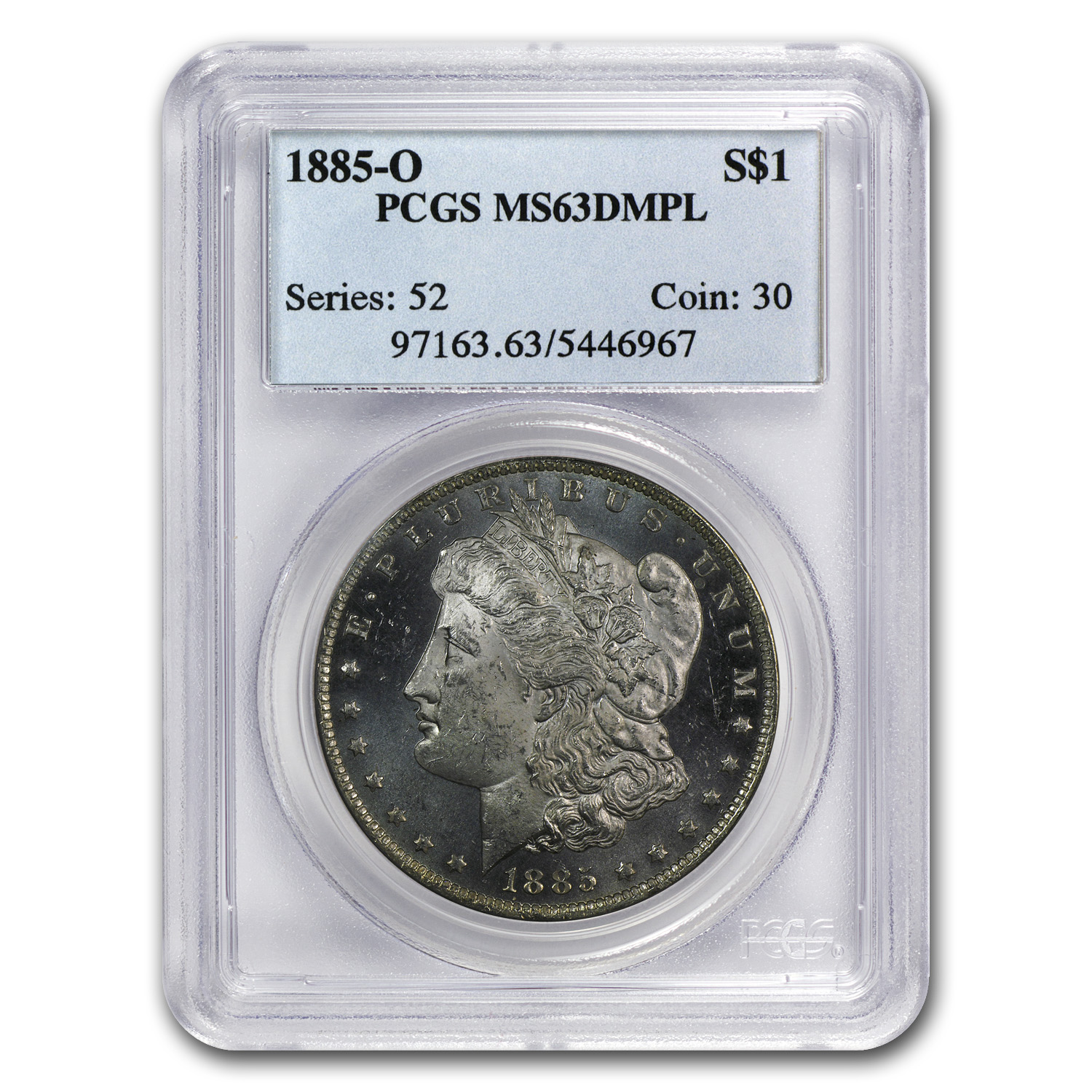 1878-1904 Morgan Dollars MS-63 PCGS (DMPL)
