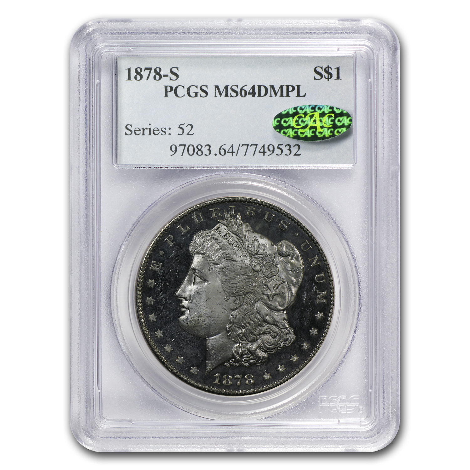1878-S Morgan Dollar MS-64 DMPL PCGS (CAC)