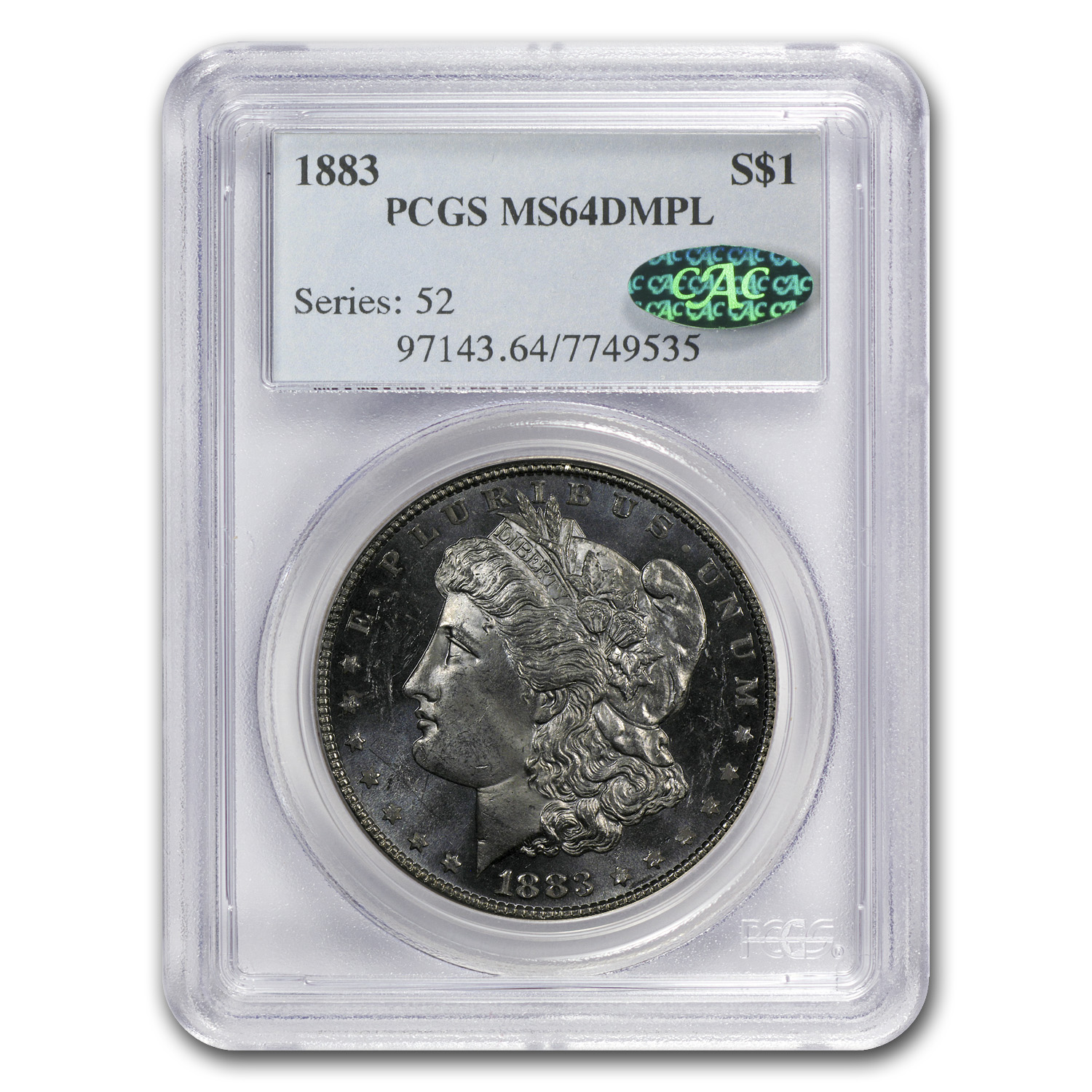 1883 Morgan Dollar MS-64 DMPL PCGS (CAC)