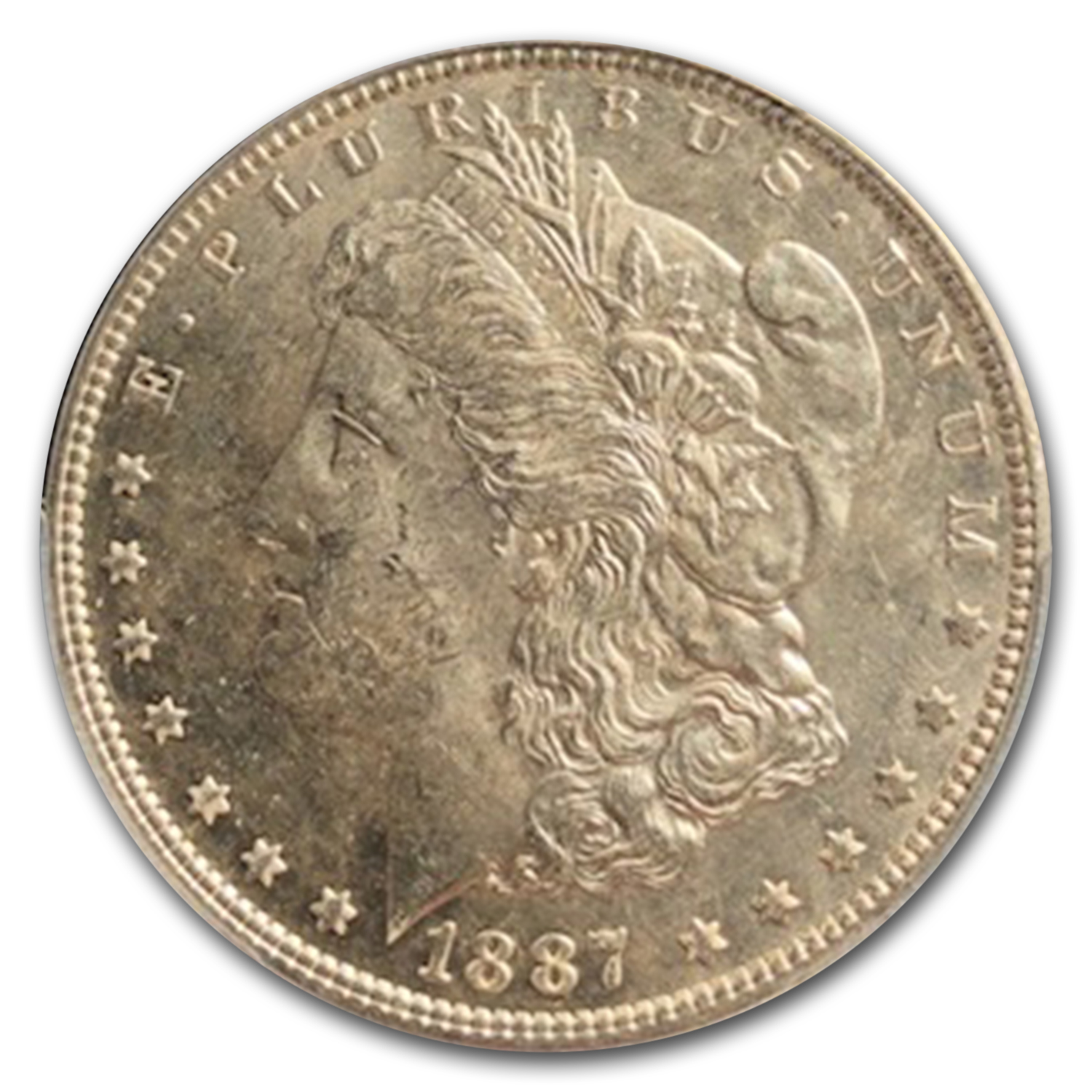 1887 Morgan Dollar MS-64 PL Proof Like PCGS