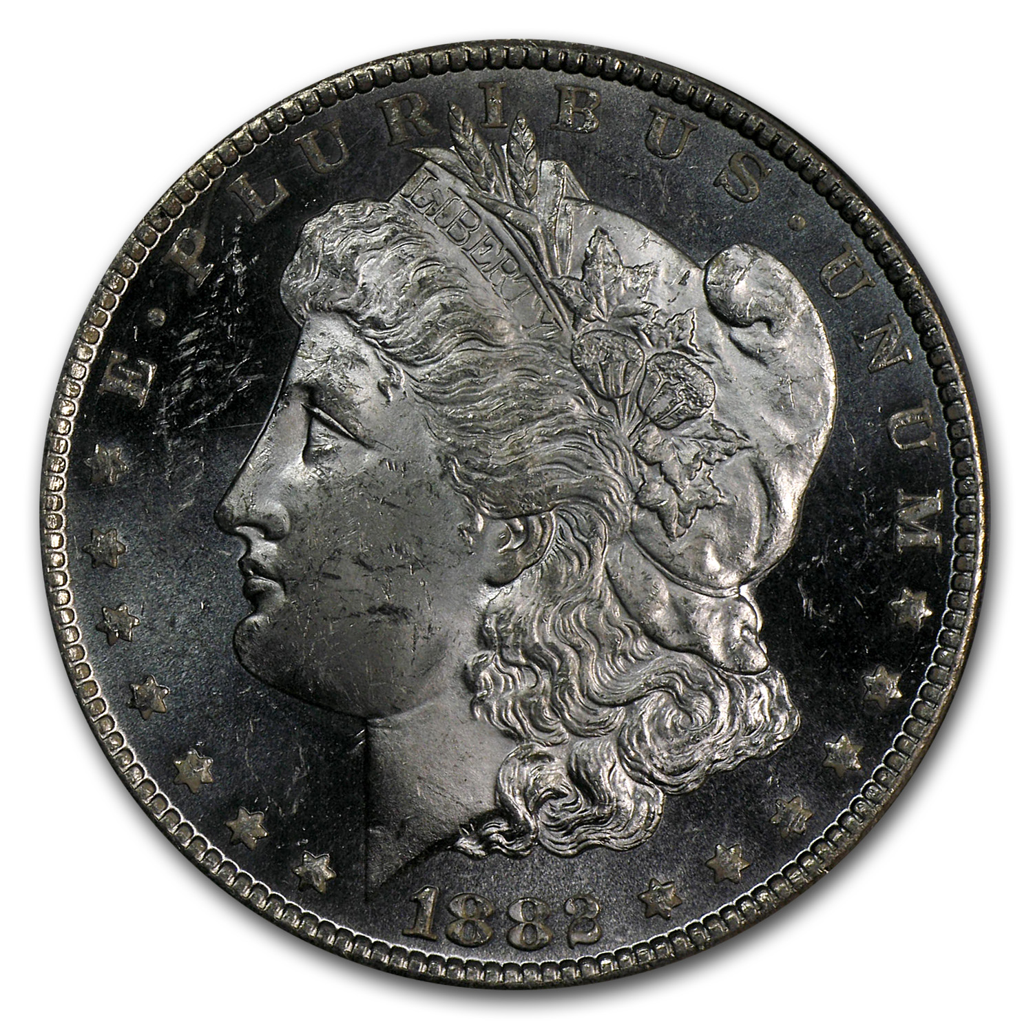 1882-CC Morgan Dollar MS-63 DMPL PCGS (CAC)