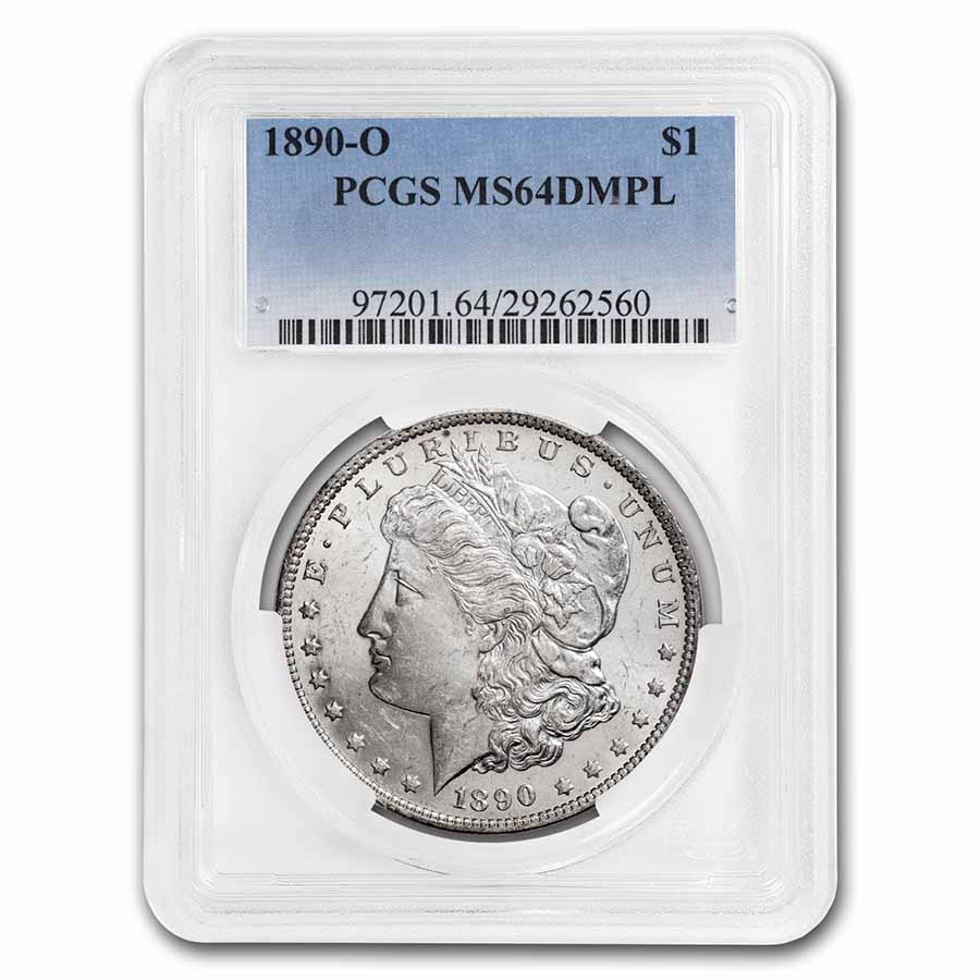 1890-O Morgan Dollar MS-64 DMPL PCGS