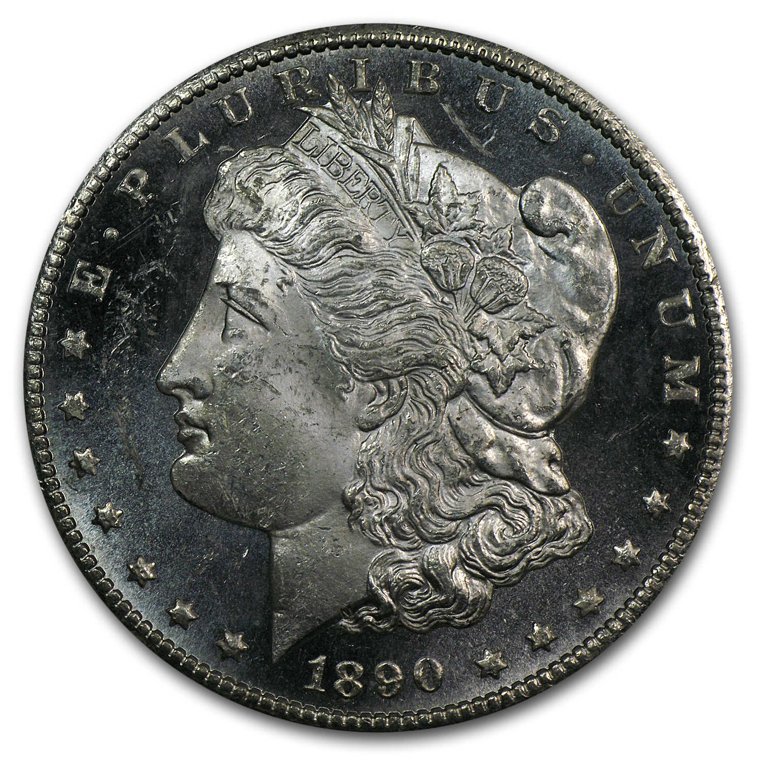 1890-CC Morgan Dollar MS-63 DMPL PCGS (CAC)