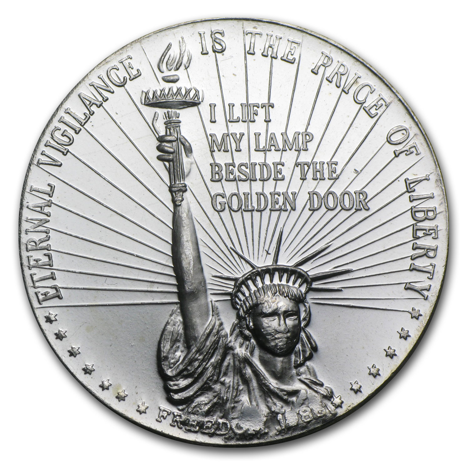 1 Oz Silver Round Statue Of Liberty Eternal Vigilance