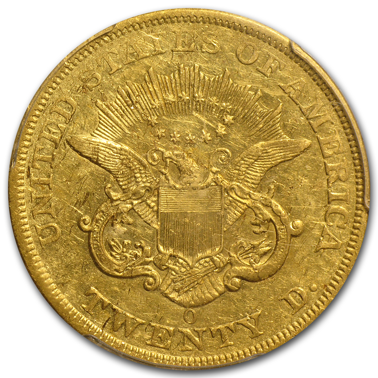 1851-O $20 Gold Liberty Double Eagle XF Details PCGS