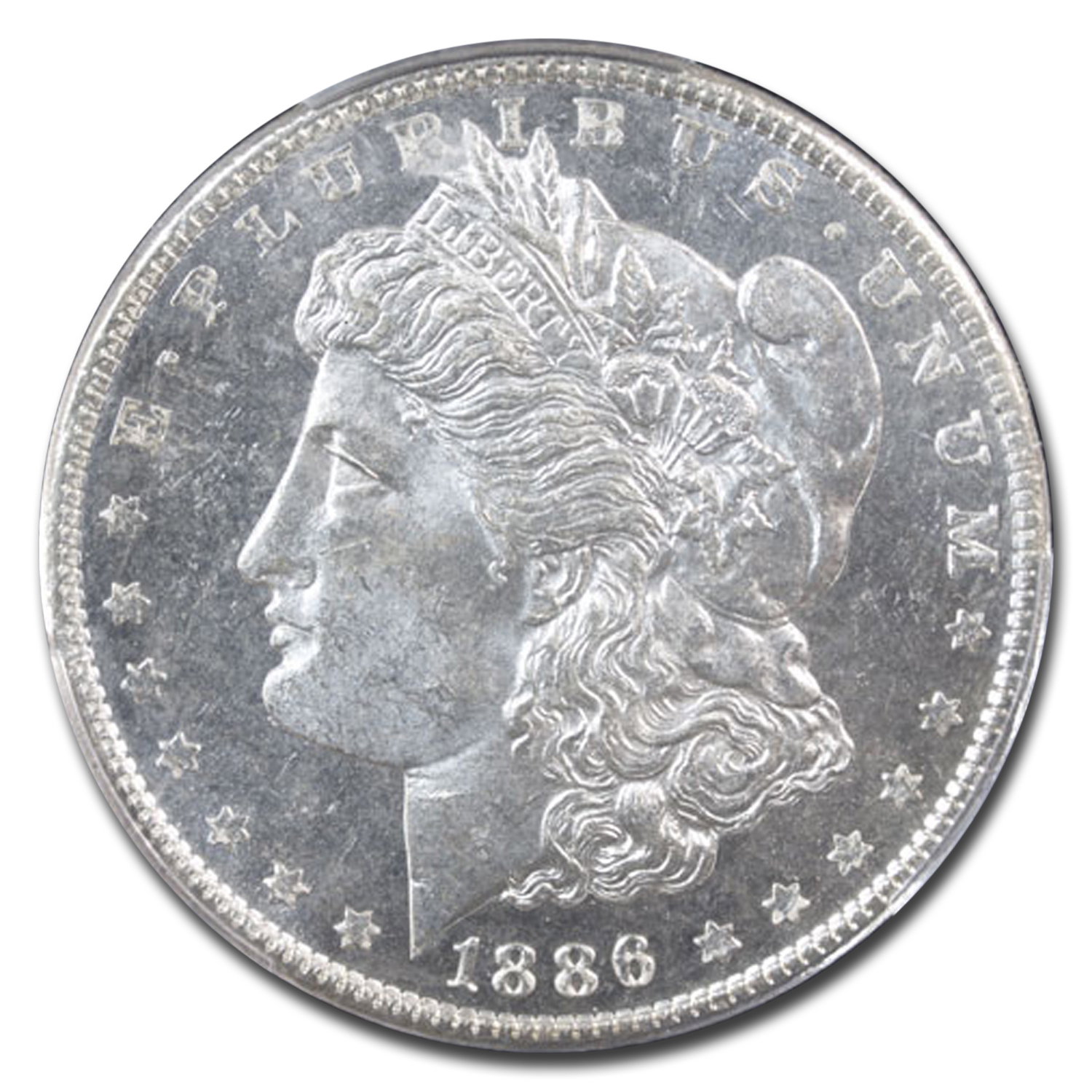 1886 Morgan Dollar MS-64 DMPL PCGS (CAC)