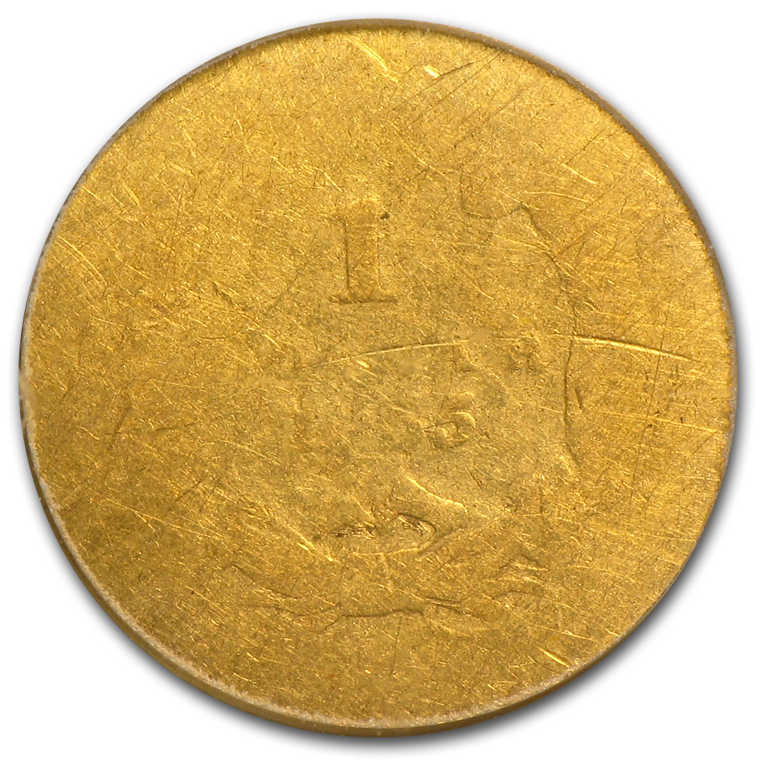1855 $1 Indian Head Gold Fair-2 PCGS (Low Ball Registry)