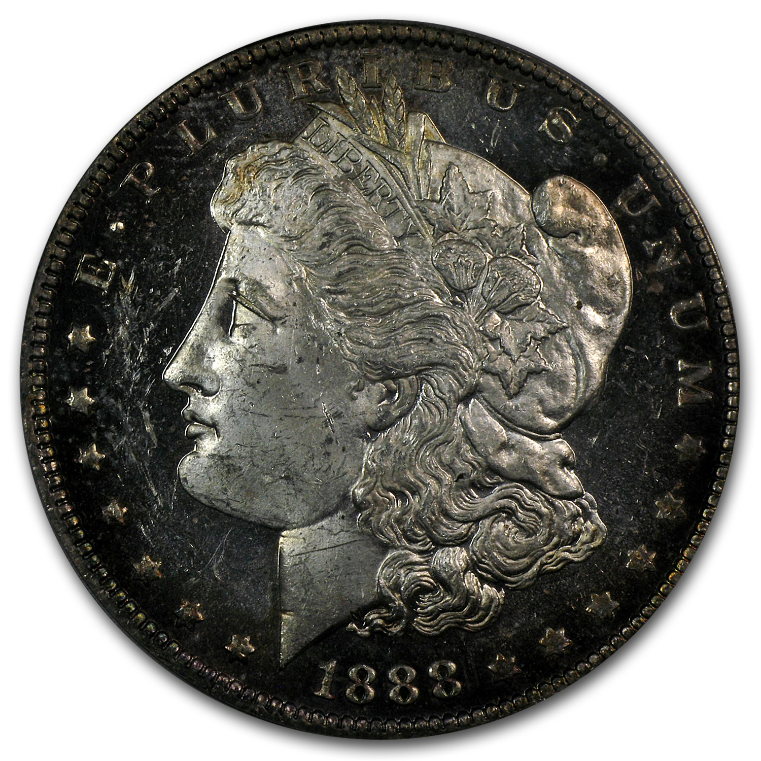 1888-O Morgan Dollar MS-63 DMPL PCGS (CAC)