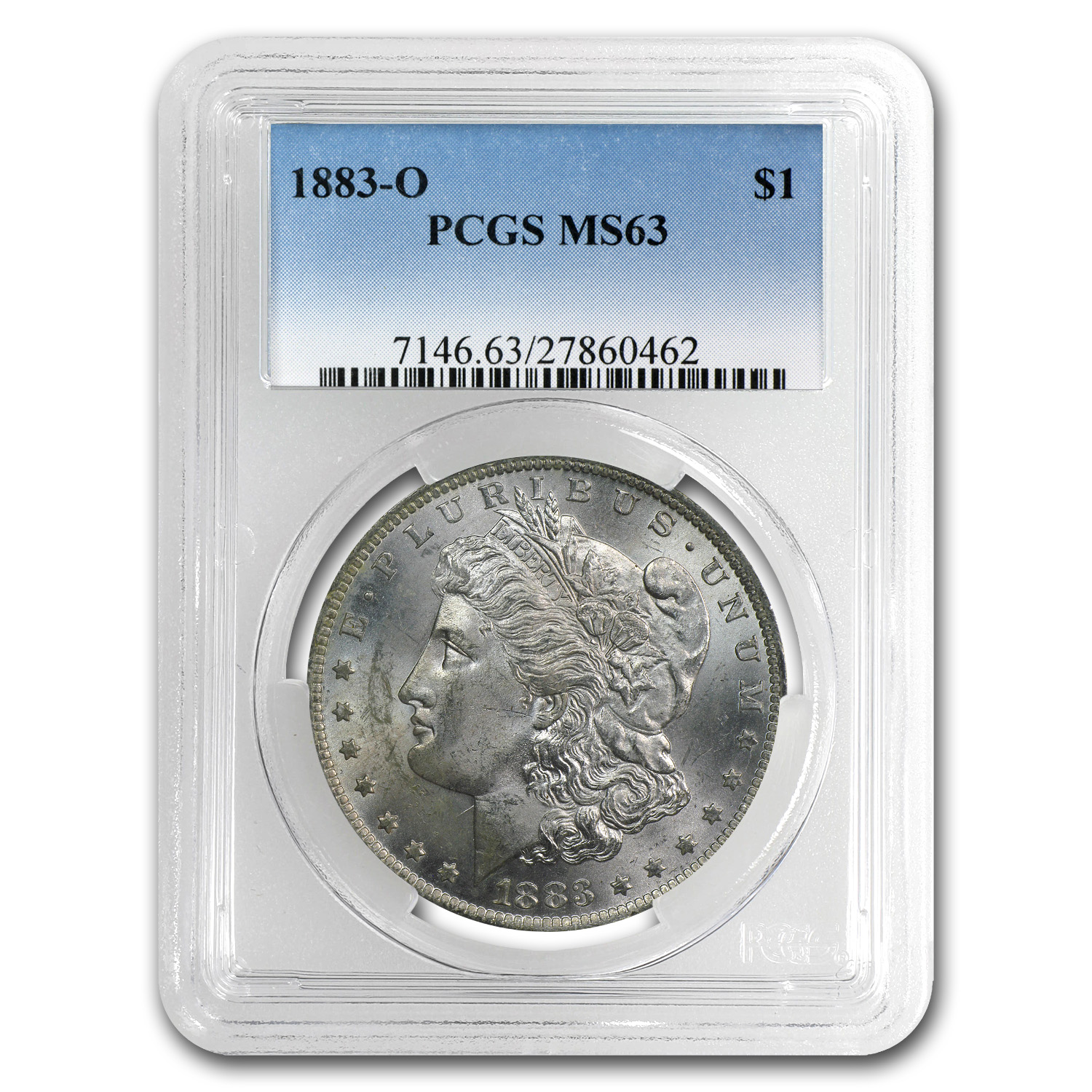 1878-1904 Morgan Dollars MS-63 PCGS (New Orleans Mint)