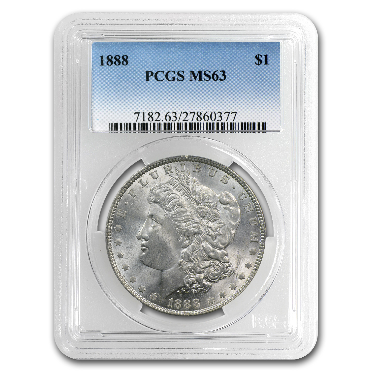 1878-1904 Morgan Dollars MS-63 PCGS (Philadelphia Mint)