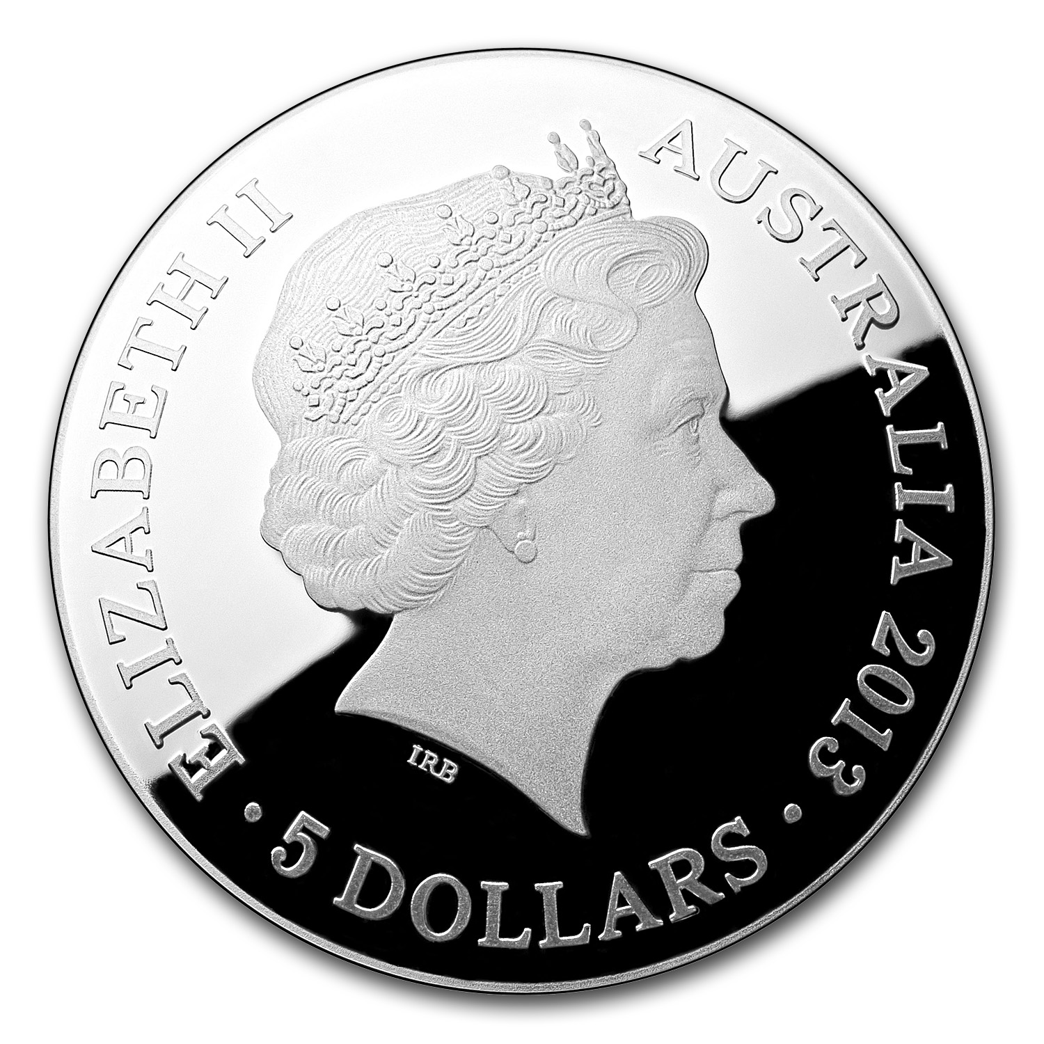Australian 2013 Proof Silver $5 Color Domed Southern Sky Pavo