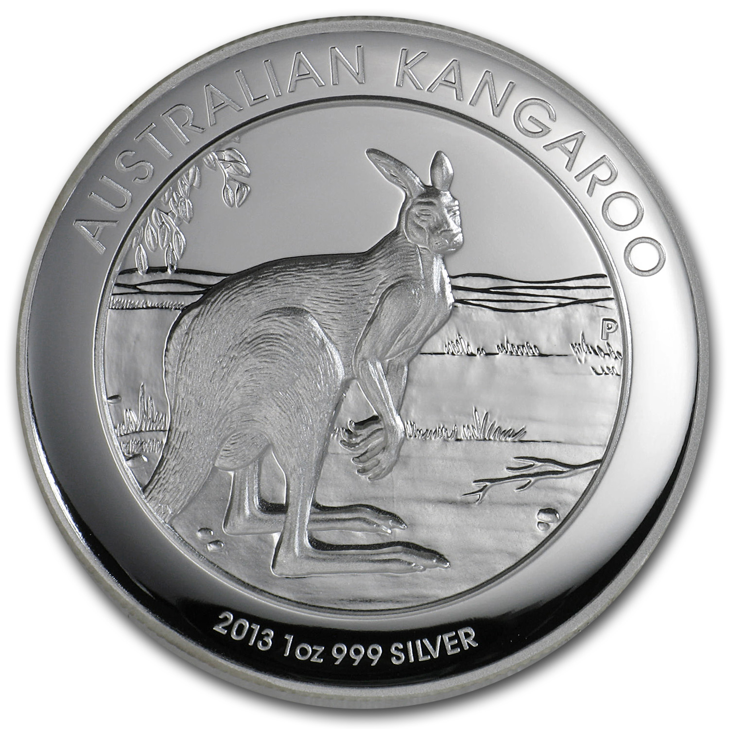 2013 Australia 1 oz Silver Kangaroo Proof (High Relief)
