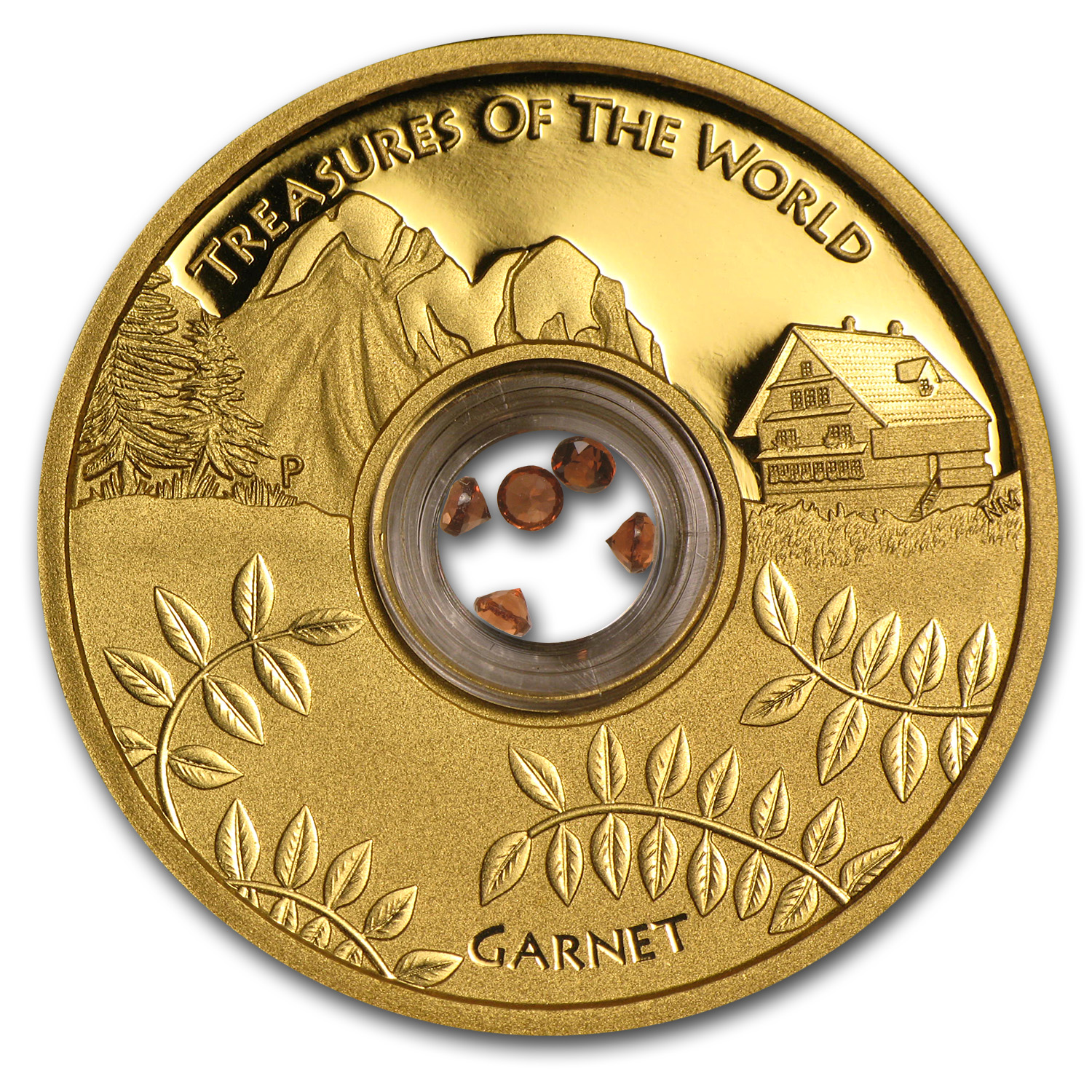 2013 1 oz Gold Treasures of the World Europe Locket (w/Garnet)