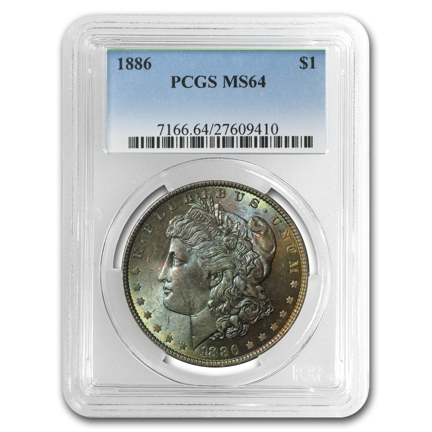 1878-1904 Morgan Dollars - MS-64 PCGS (Beautifully Toned)