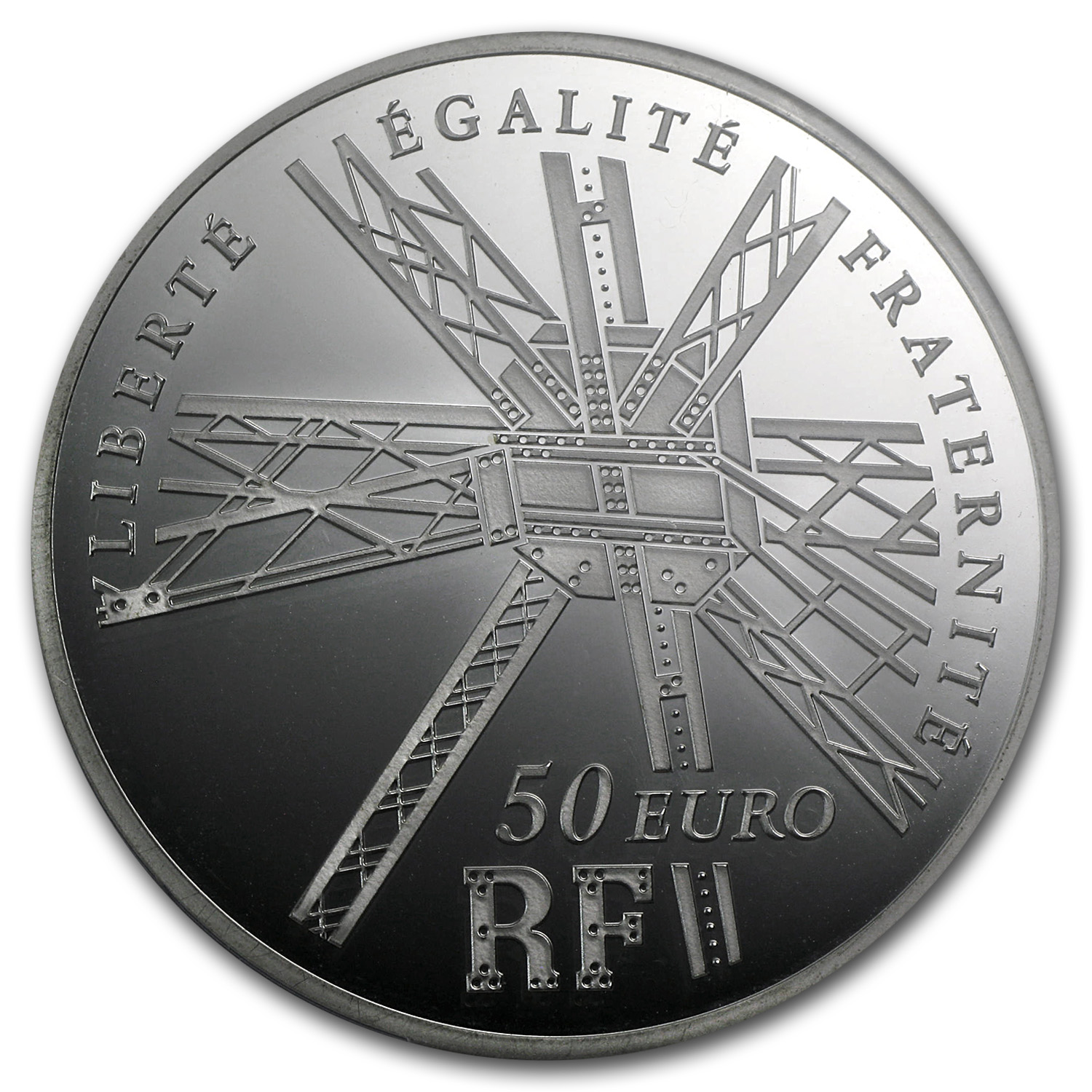 2009 France 5 oz Silver €50 Eiffel Tower PF-66 NGC