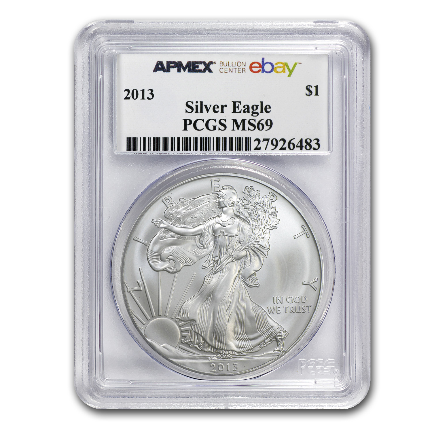 2013 Silver American Eagle MS-69 PCGS eBay Bullion Center
