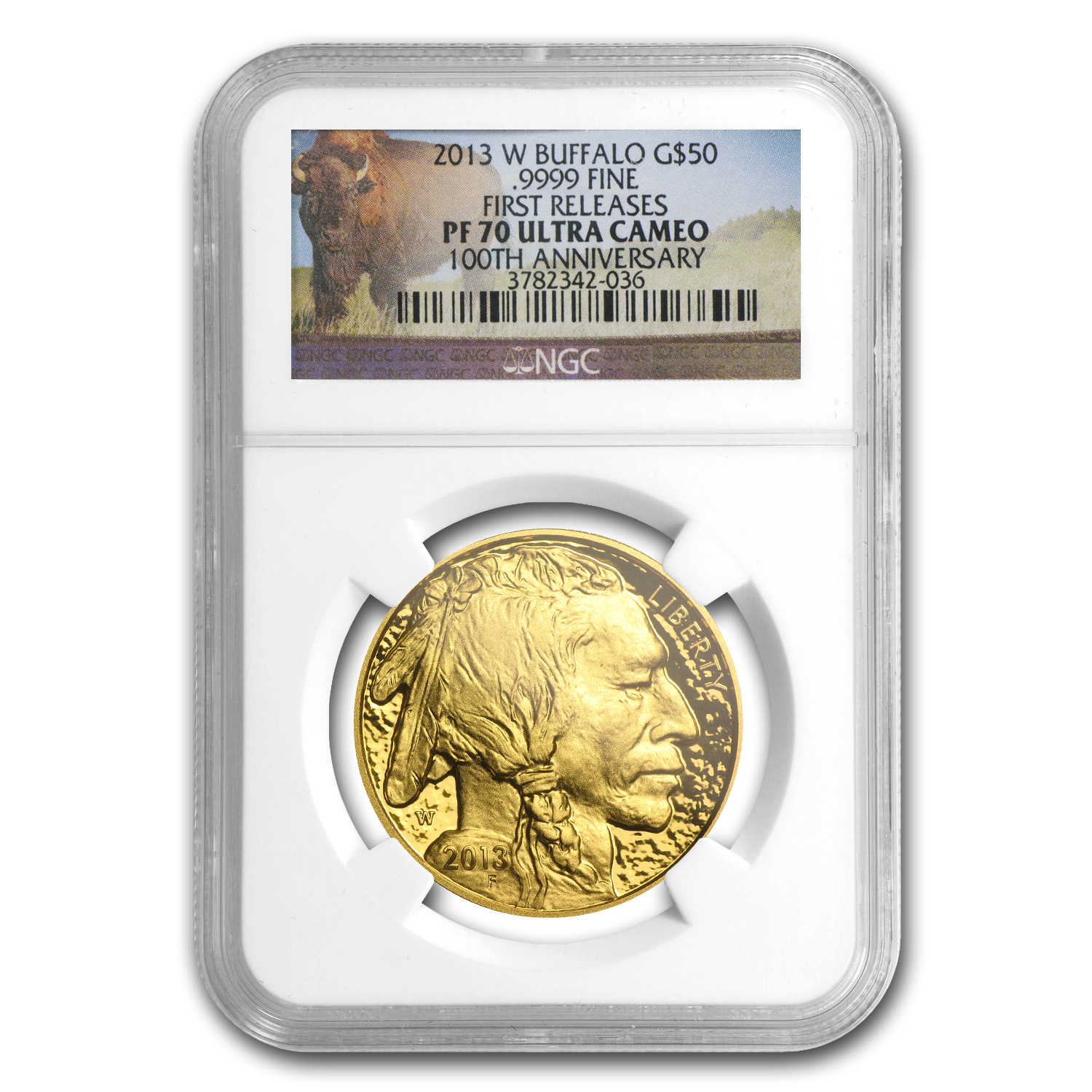 2013-W 1 oz Proof Gold Buffalo PF-70 NGC (FR, Buffalo Label)