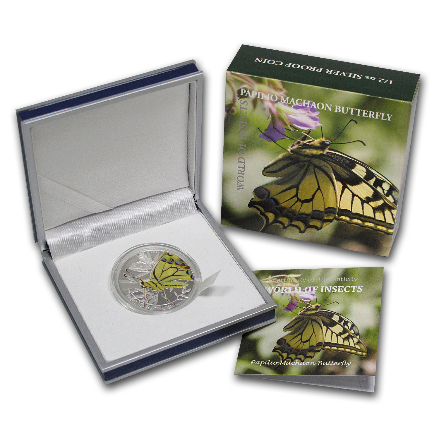 2013 Palau Silver $2 World of Insects Papilio Machaon Butterfly