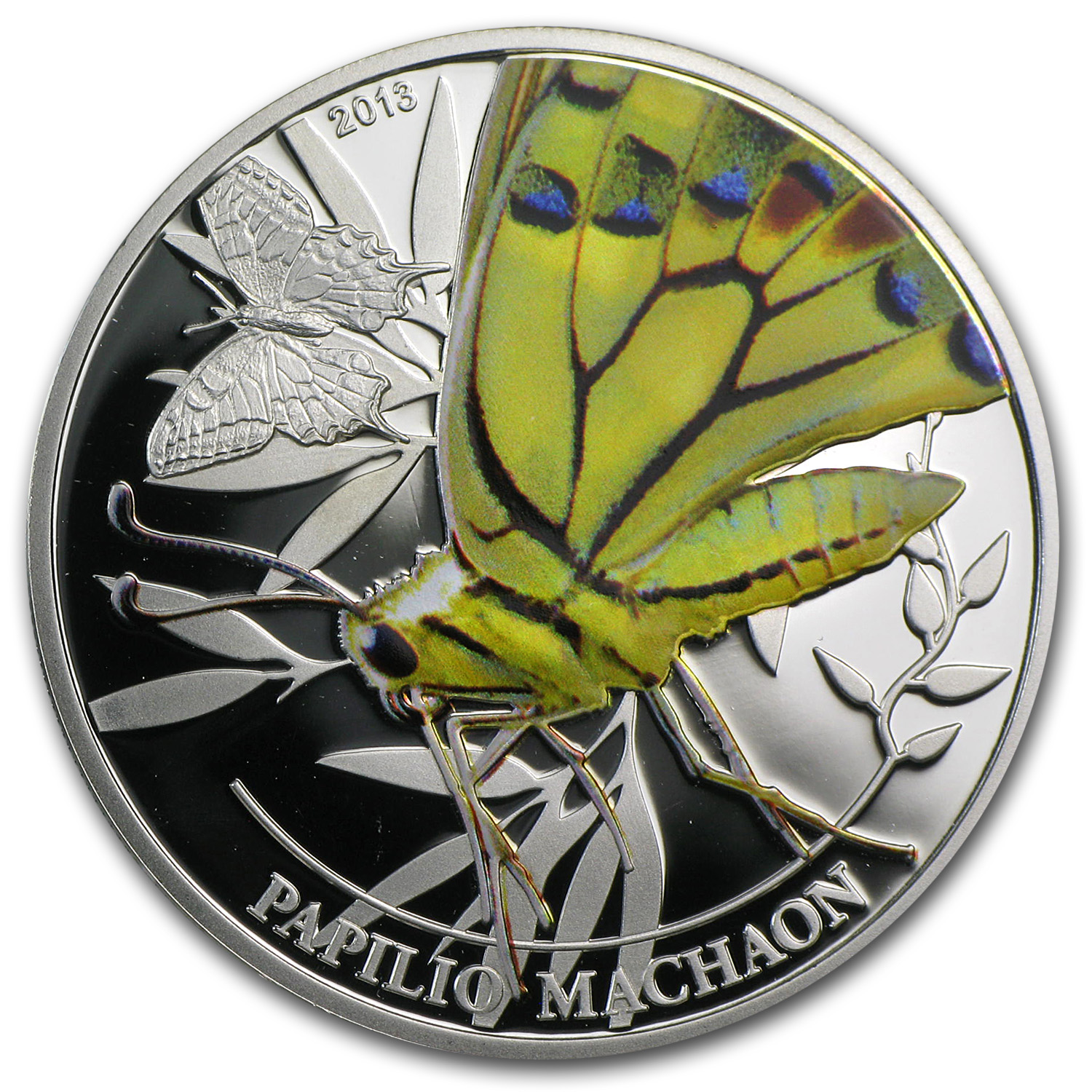 Palau 2013 Silver $2 World of Insects - Papilio Machaon Butterfly