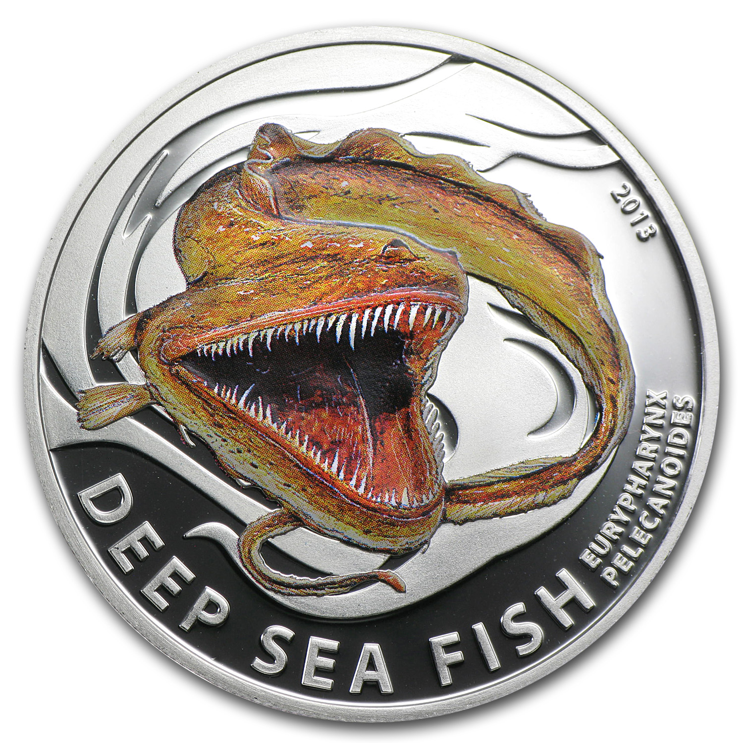 2013 Pitcairn Islands Silver Deep Sea Fish Pelican Eel