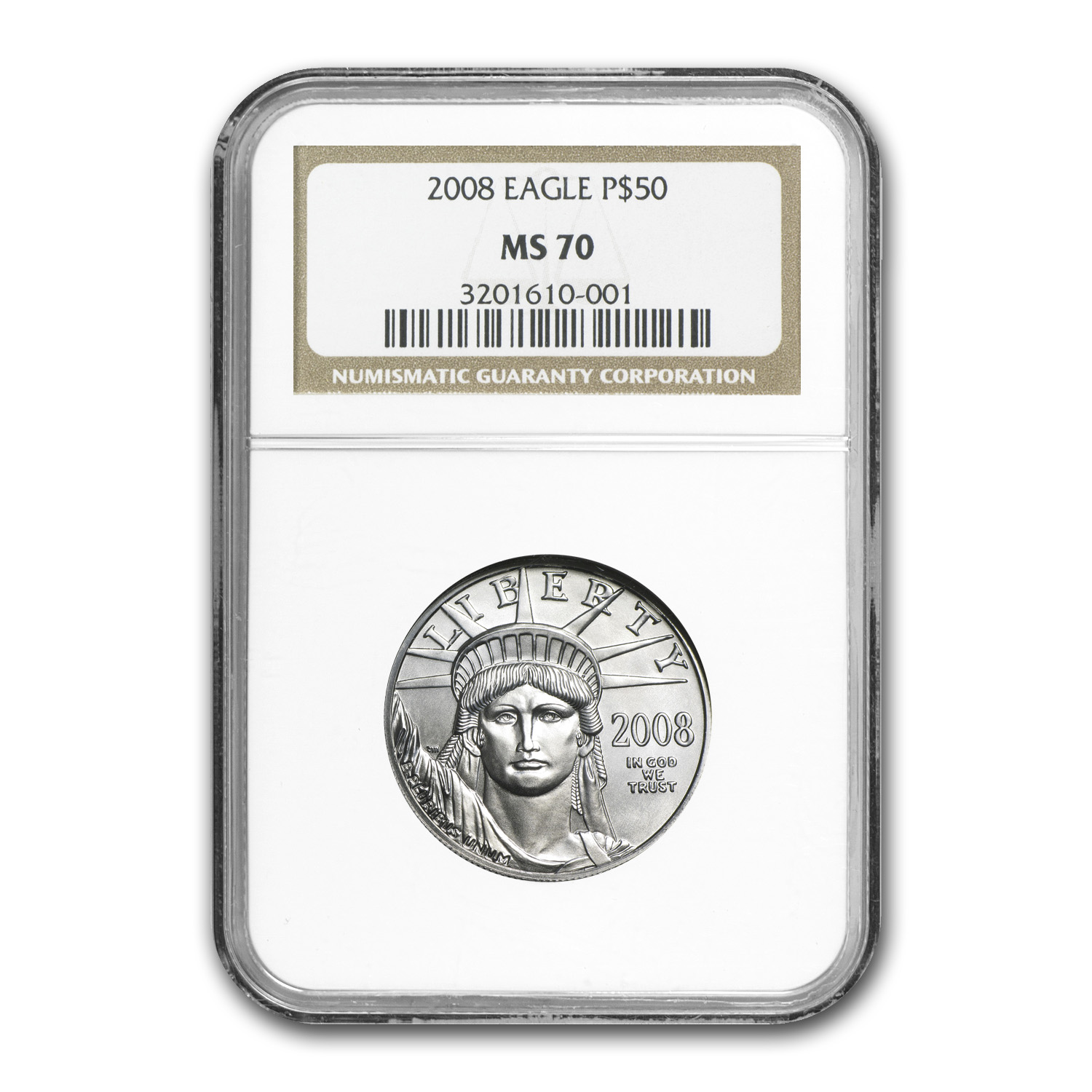 2008-W 4-Coin Burnished Platinum American Eagle Set MS-70 NGC
