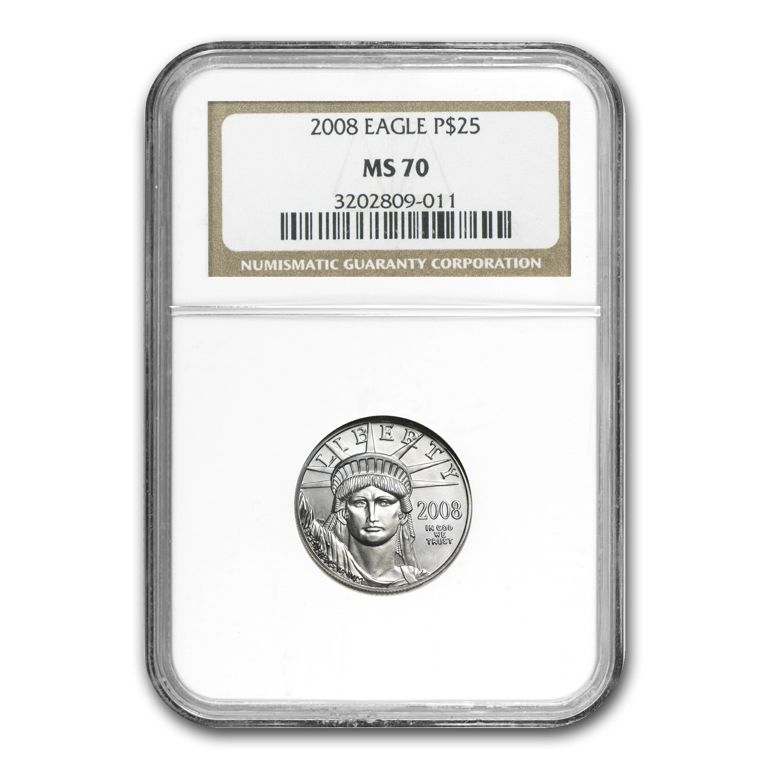 2008-W 4-Coin Burnished Platinum Eagle Set MS-70 NGC