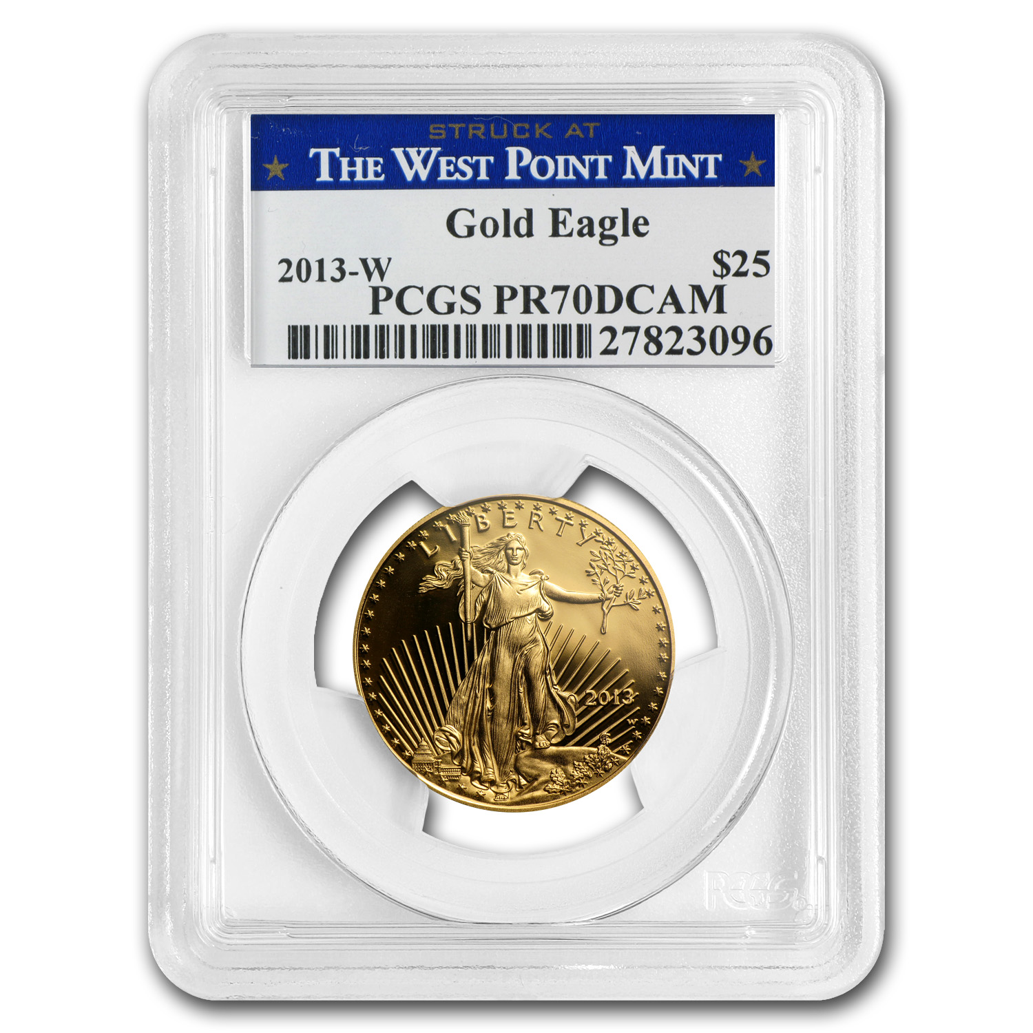 2013-W 1/2 oz Proof Gold American Eagle PR-70 PCGS