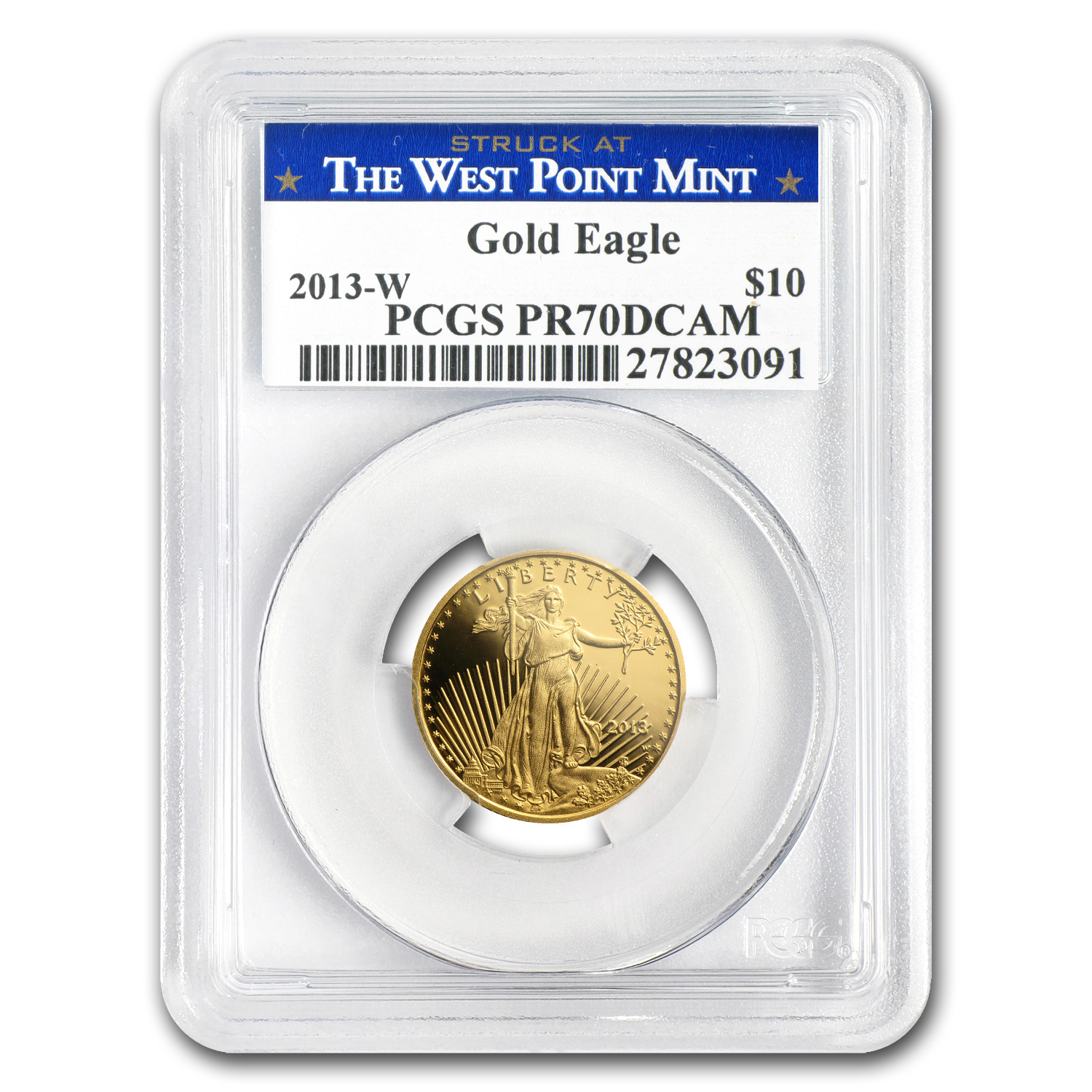 2013-W 1/4 oz Proof Gold American Eagle PR-70 PCGS