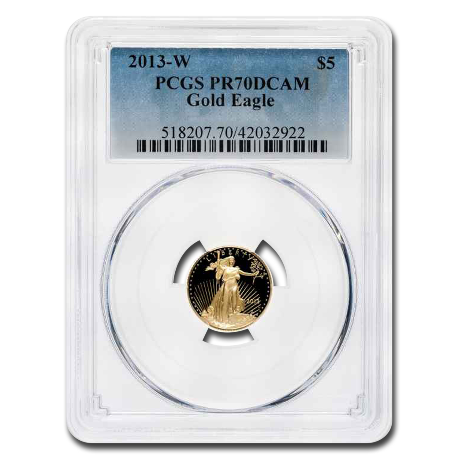 2013-W 1/10 oz Proof Gold American Eagle PR-70 PCGS