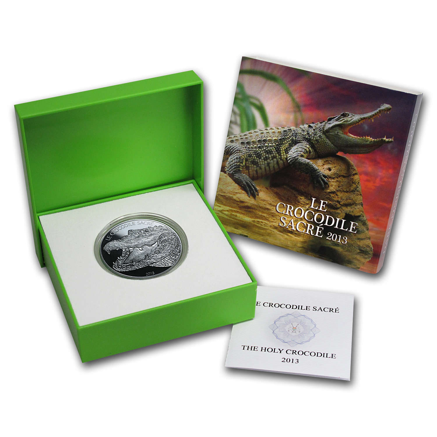 2013 Burkina Faso 1 oz Silver 1000 Francs CFA Le Crocodile