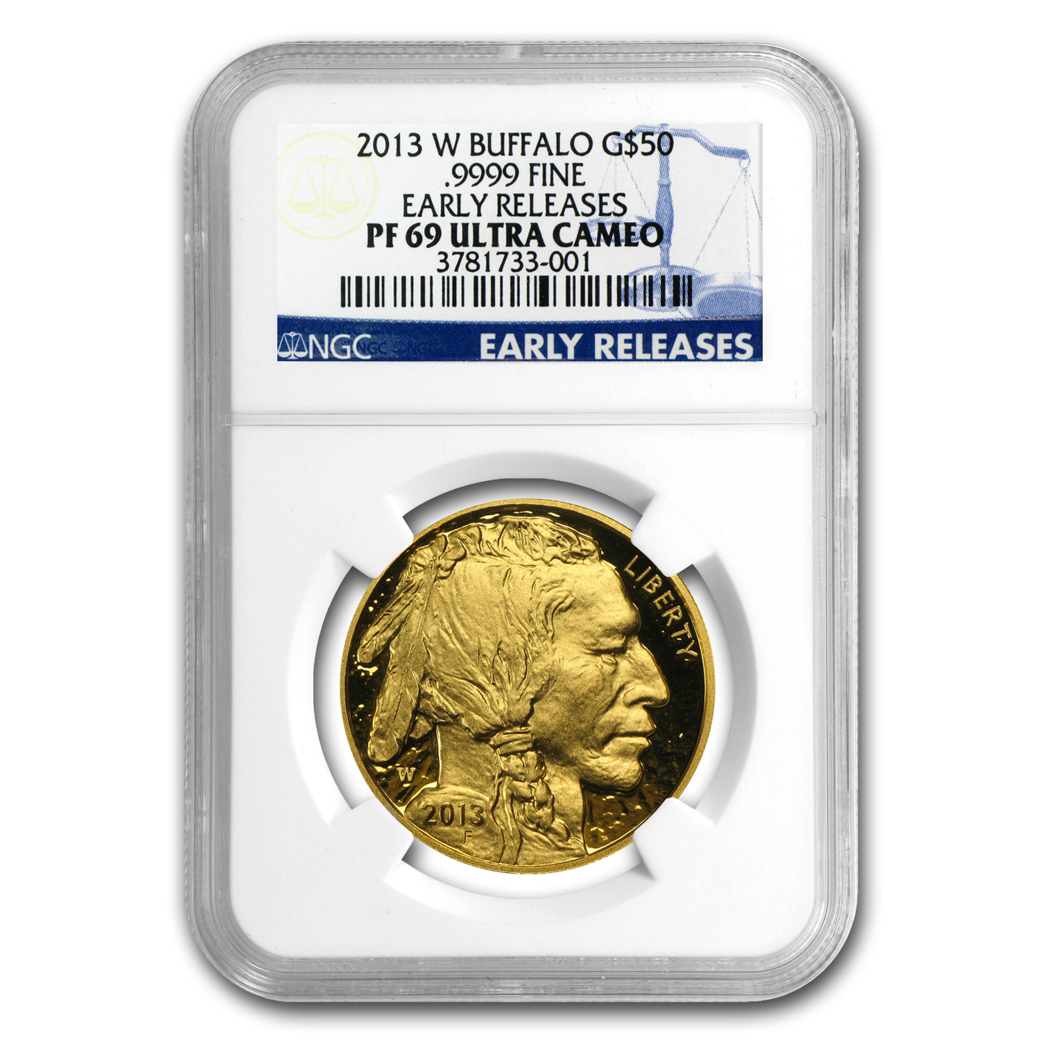 2013-W 1 oz Proof Gold Buffalo PF-69 NGC (ER)