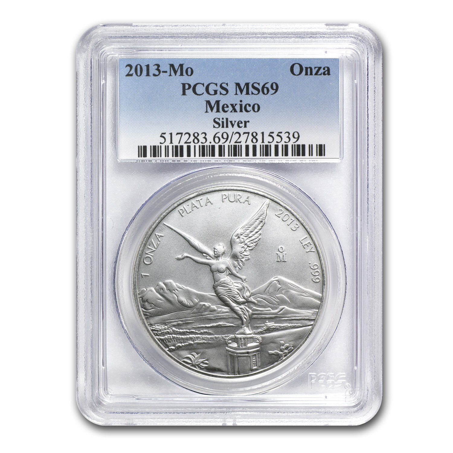 2013 1 oz Silver Mexican Libertad MS-69 PCGS