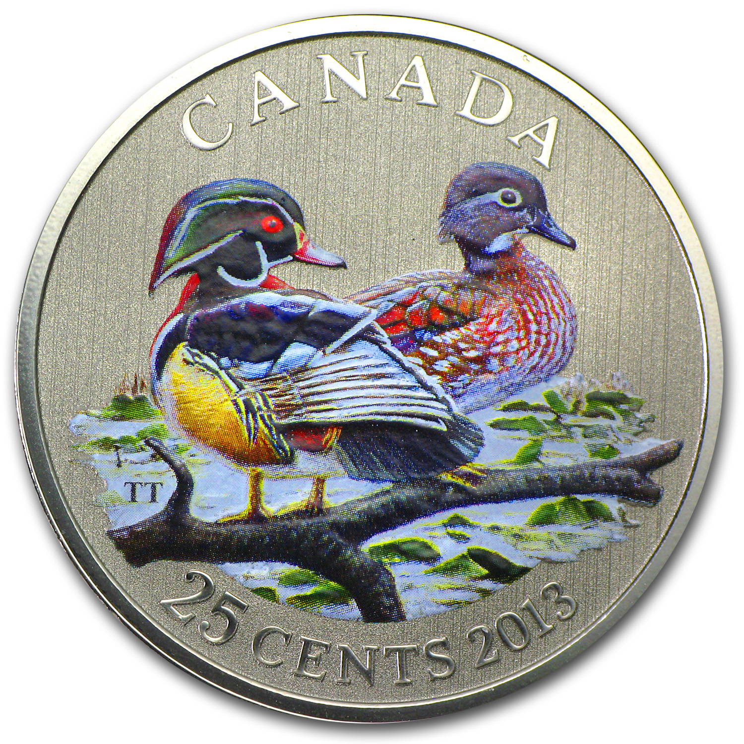2013 Ducks of Canada $0.25 Wood Duck (Colored)