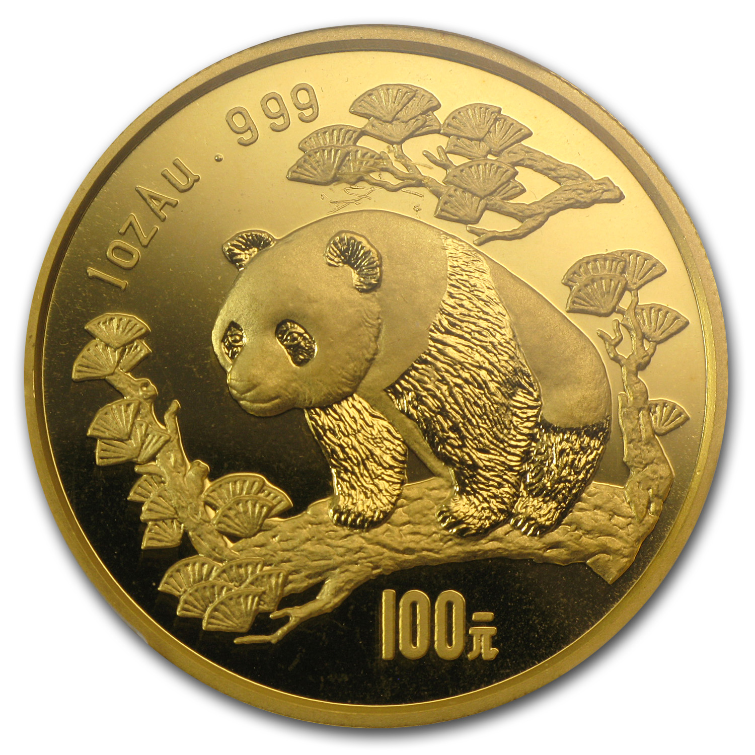 1997 1 oz Gold Chinese Panda MS-68 PCGS - Large Date