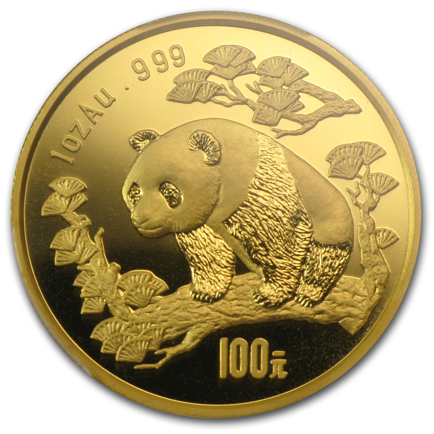 1997 1 oz Gold Chinese Panda MS-67 PCGS - Large Date