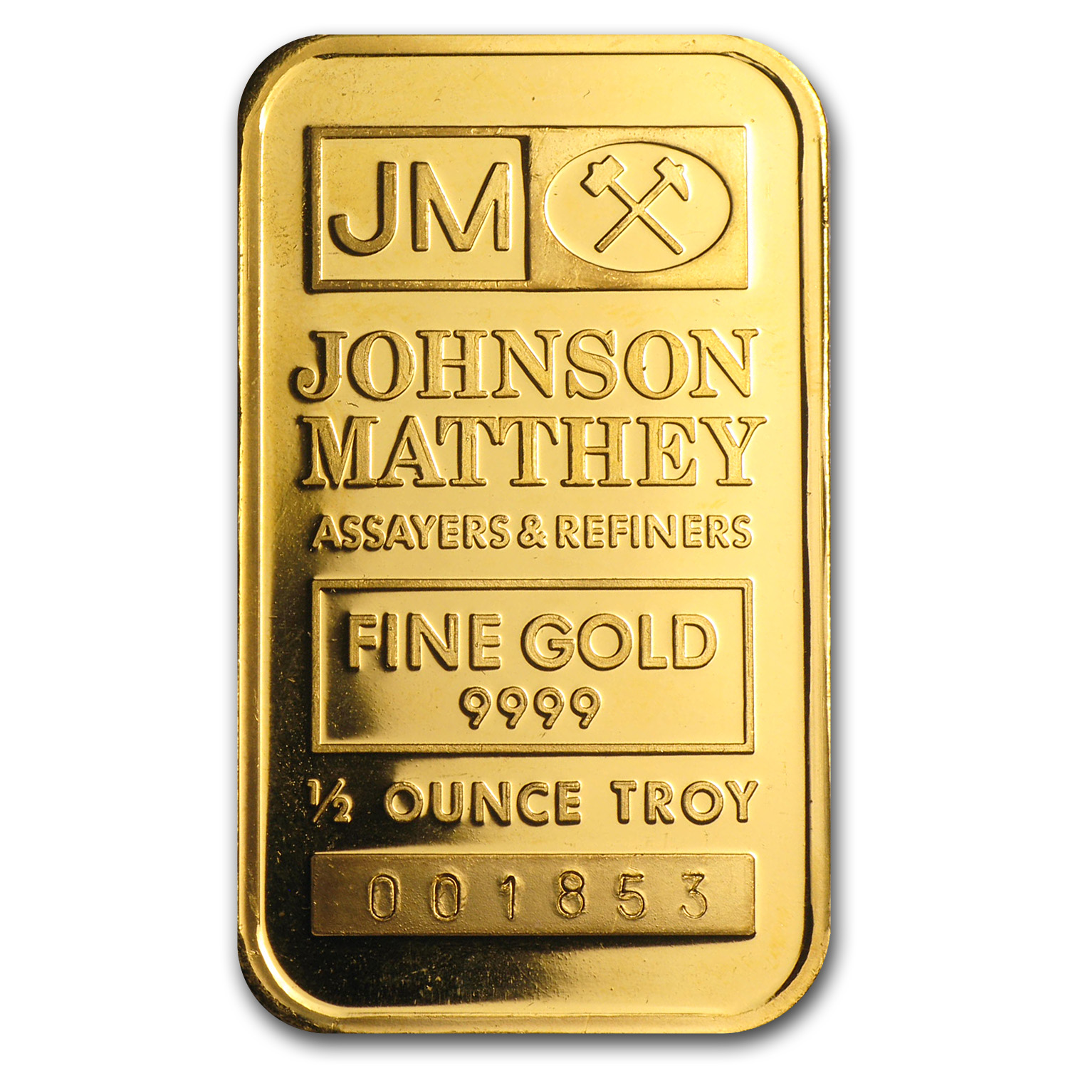 1/2 oz Gold Bar - Johnson Matthey (Cortez Gold Mines)