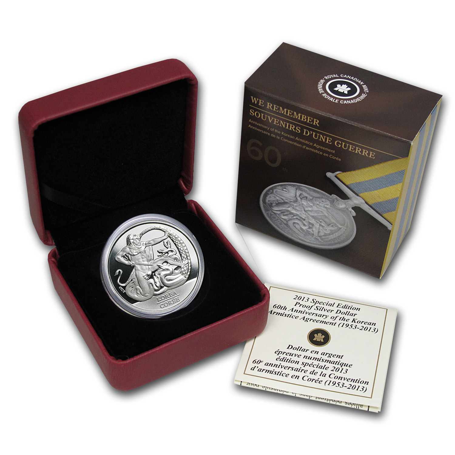 2013 Silver Canadian The 60th Anniv. - Korean Armistice Agreement